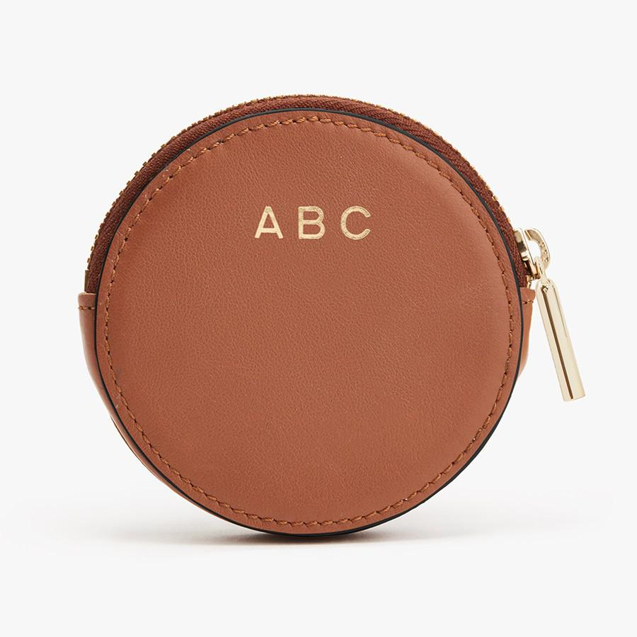 Women's Leather Coin Pouch in Caramel | Smooth Leather by Cuyana 3