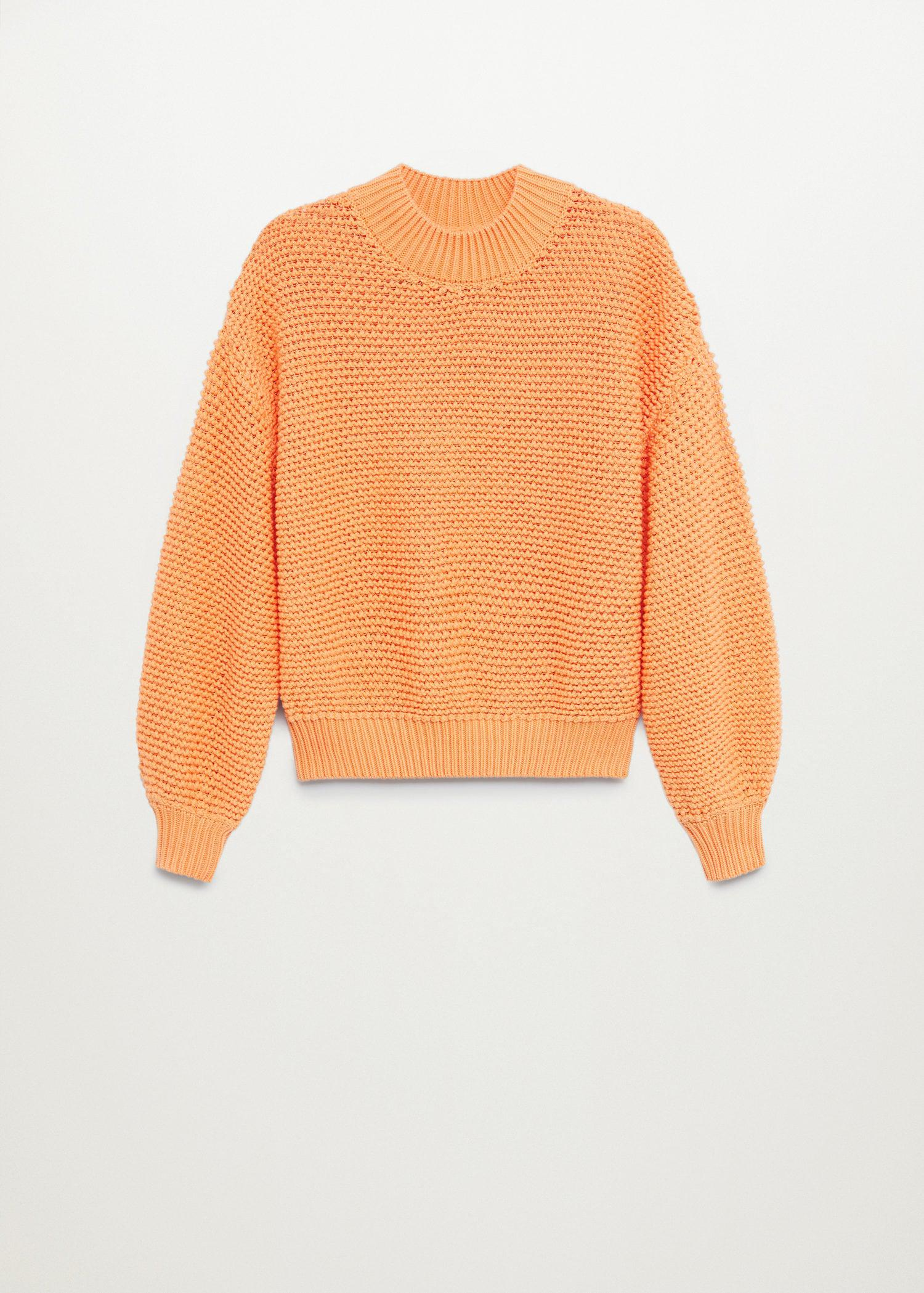 Embossed contrasting knit sweater 7