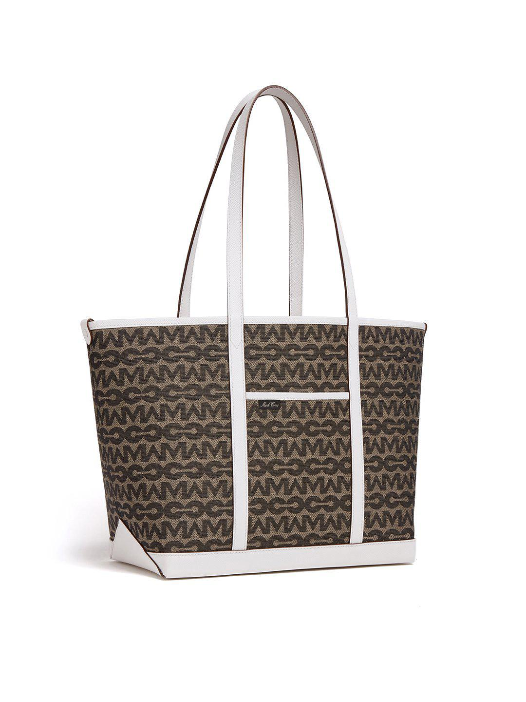 The Essentials Upcycled MC Jacquard & Leather Tote Bag 3