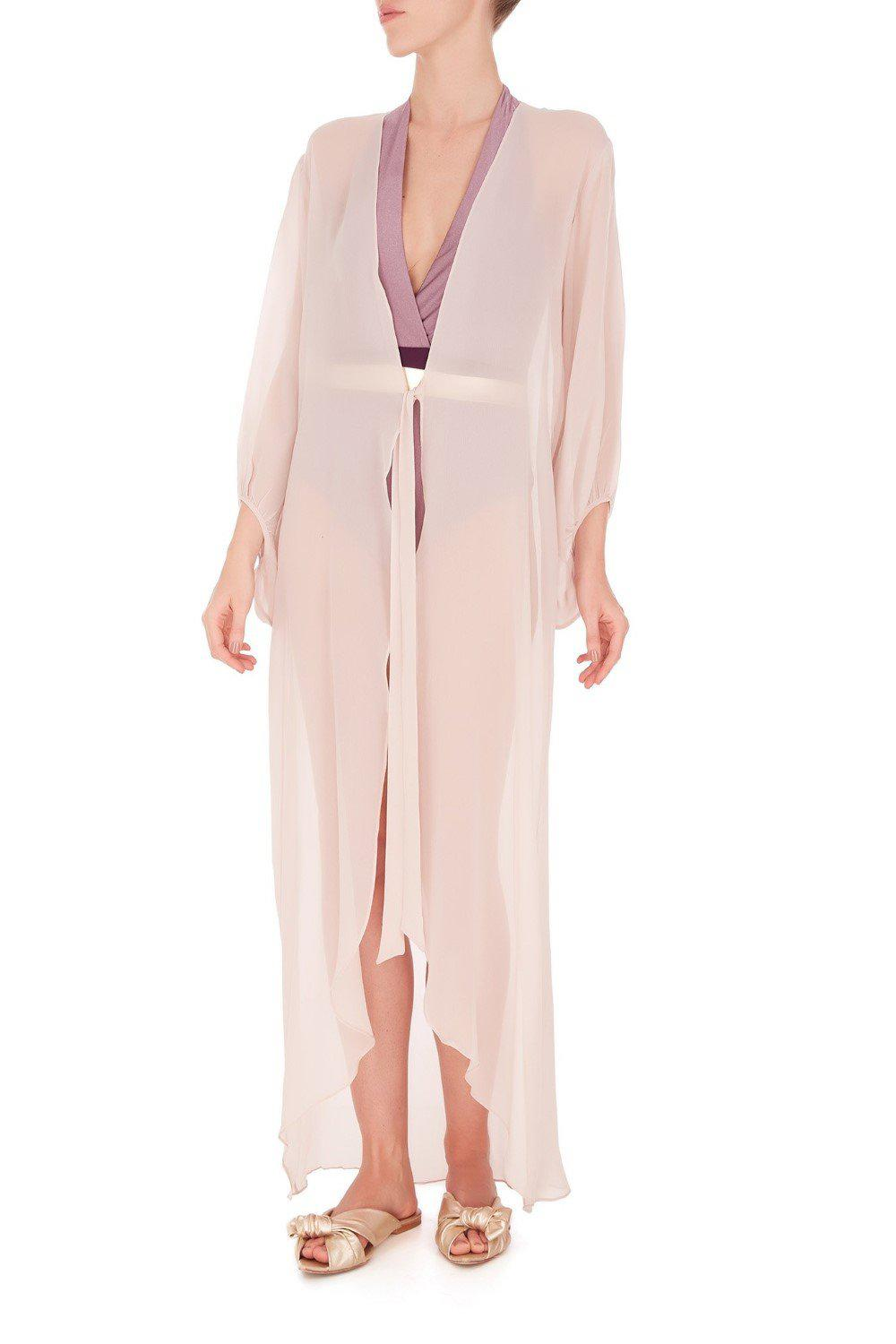 Fig Solid Long Robe 1