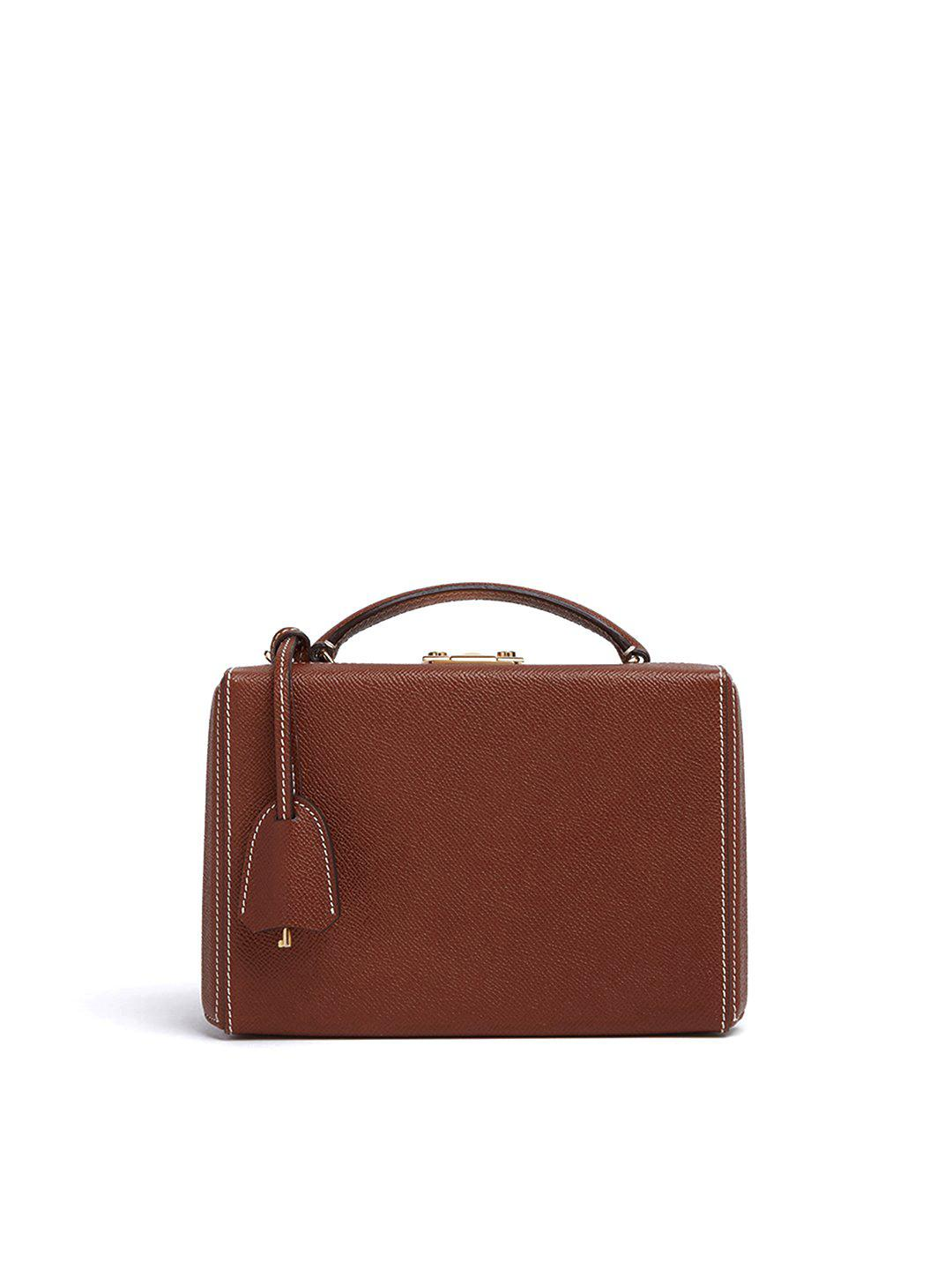 Grace Small Leather Box Bag 0