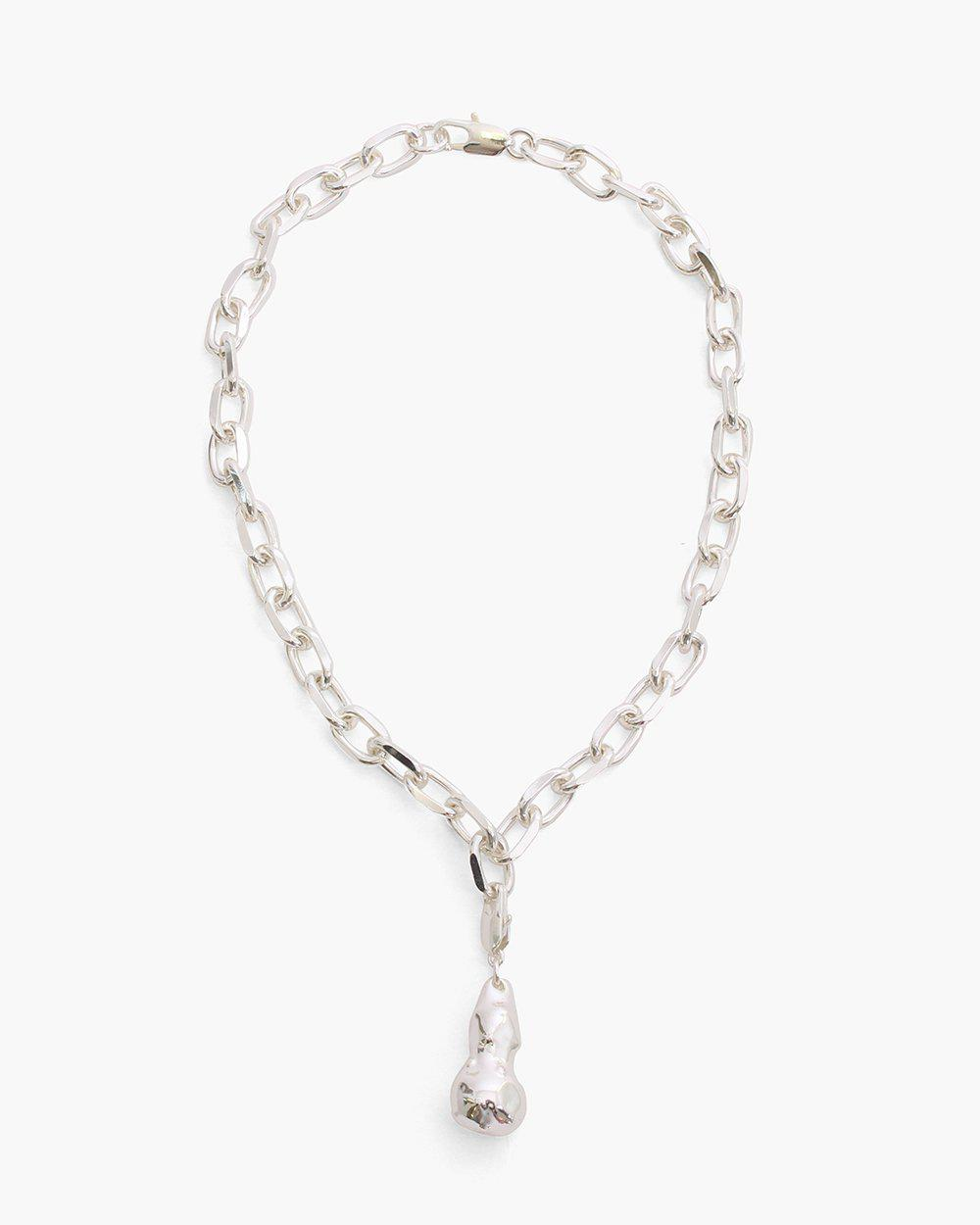 Laila Necklace Silver Plated