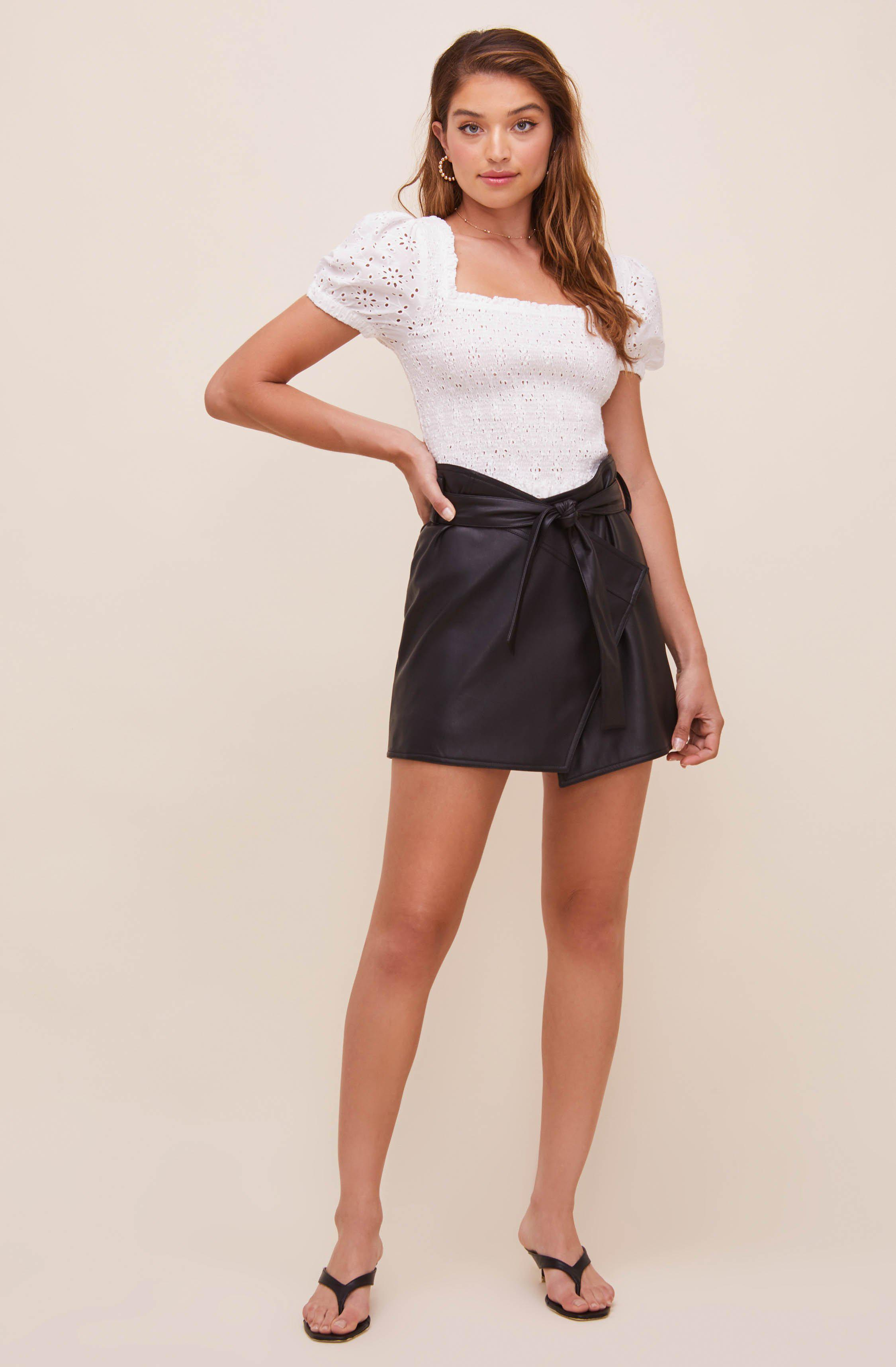Briar Faux Leather Skirt 2