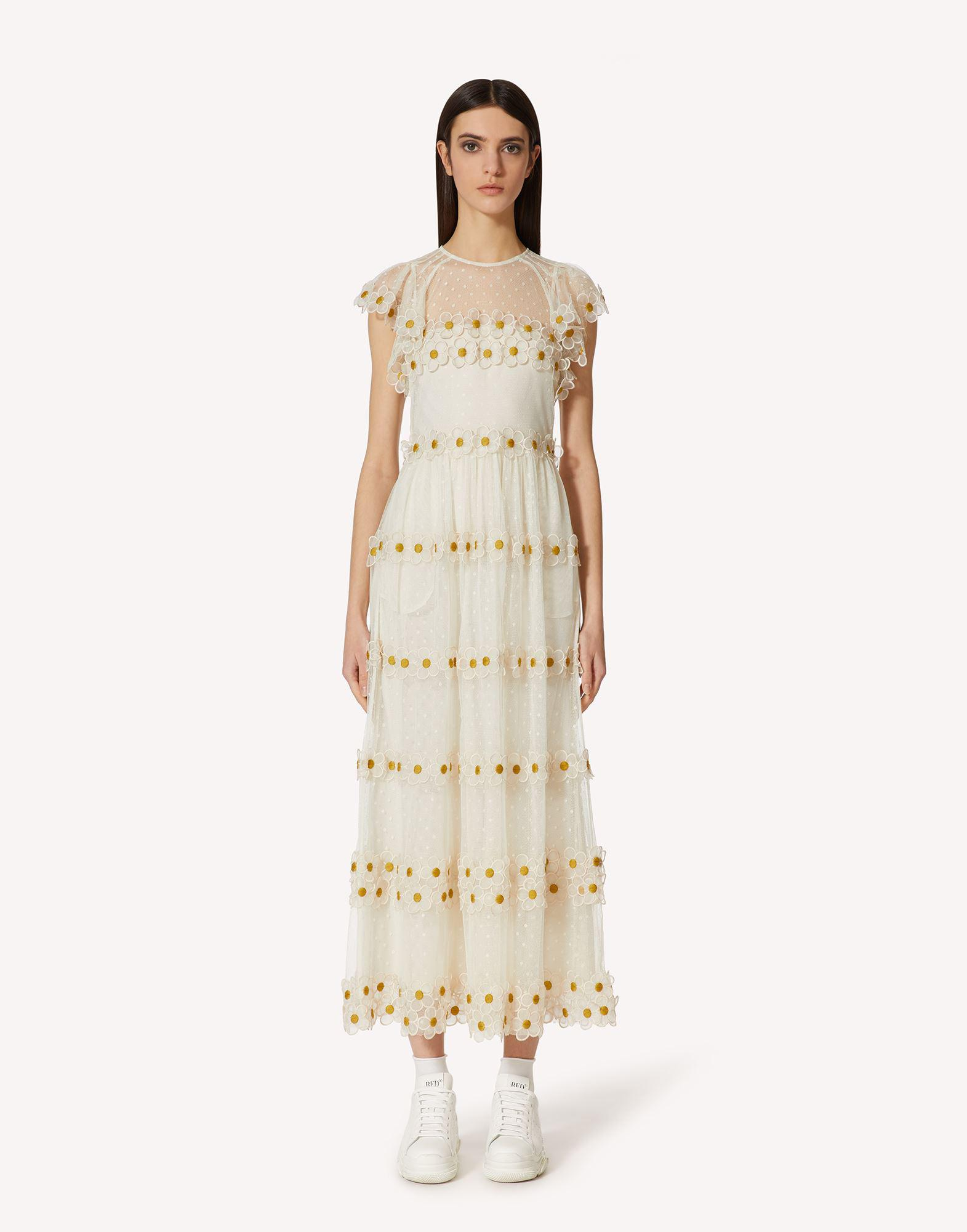 DAISY EMBROIDERED POINT D'ESPRIT TULLE DRESS