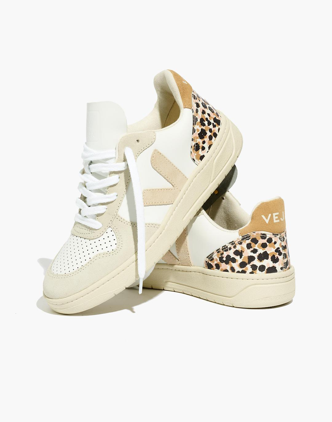 Madewell x Veja™ V-10 Sneakers in Animal Print Leather