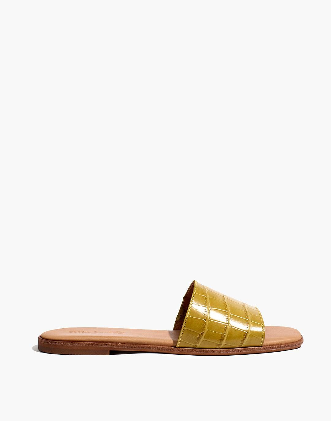 The Lianne Slide in Croc Embossed Leather 1