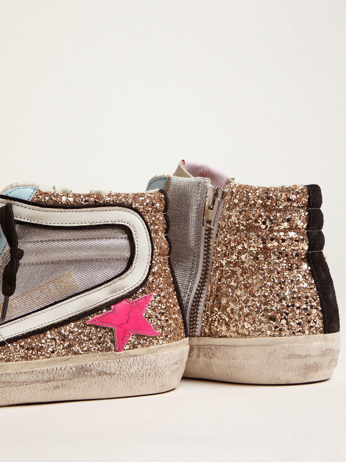 Slide LTD sneakers with glitter and fuchsia star 3