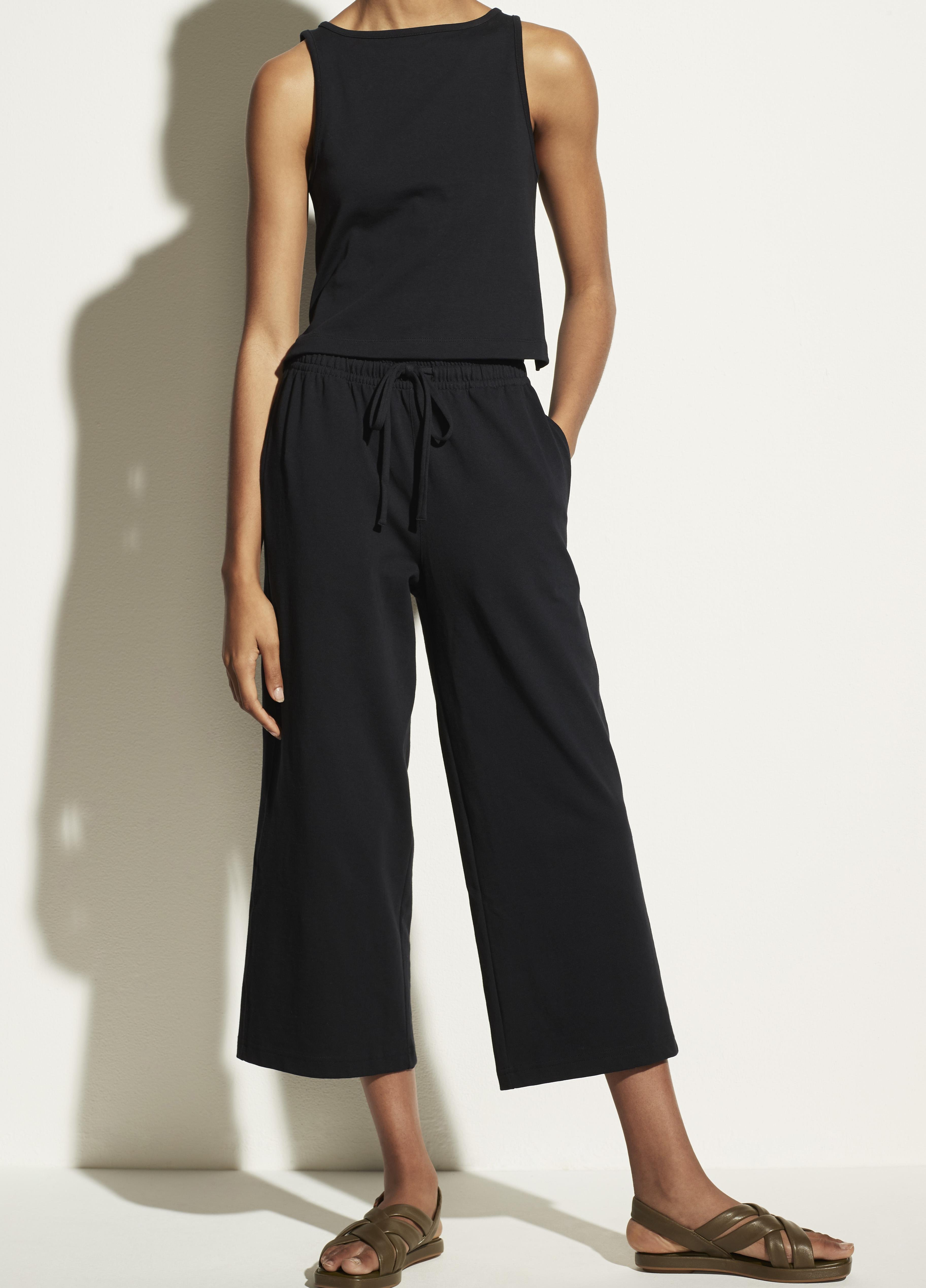 Cropped Wide Leg Pull On Pant 1