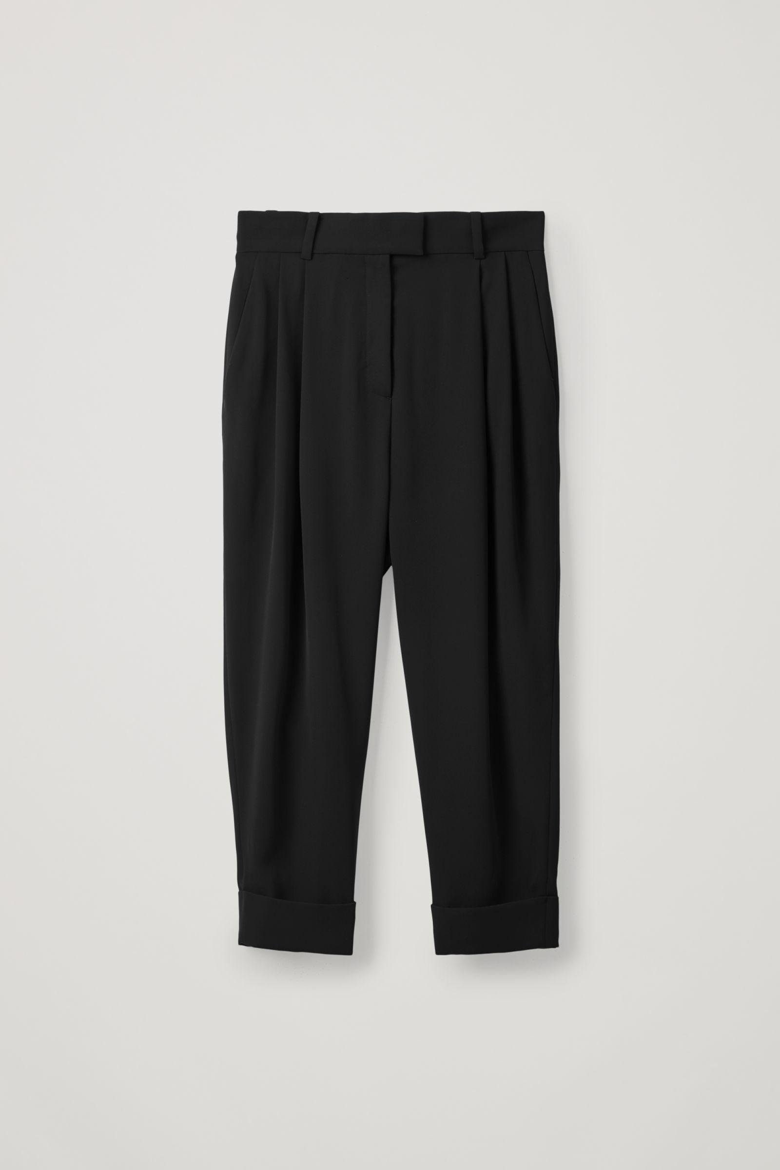 DROPPED CROTCH PANTS WITH PLEATS