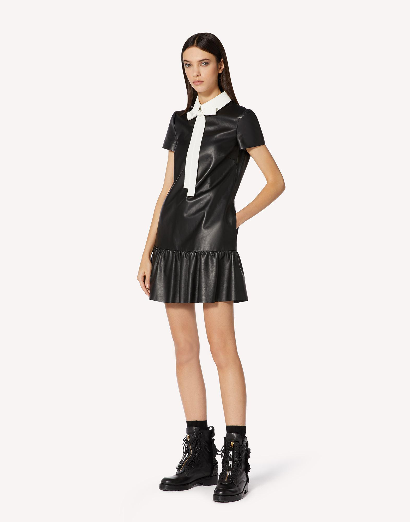 NAPPA LEATHER DRESS WITH COLLAR DETAIL 2