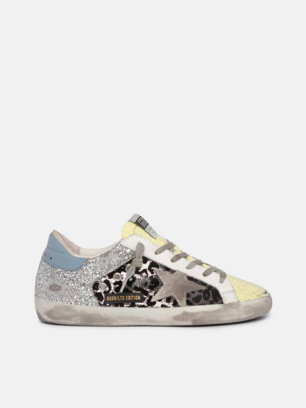 LTD Super-Star sneakers with silver glitter and sequins