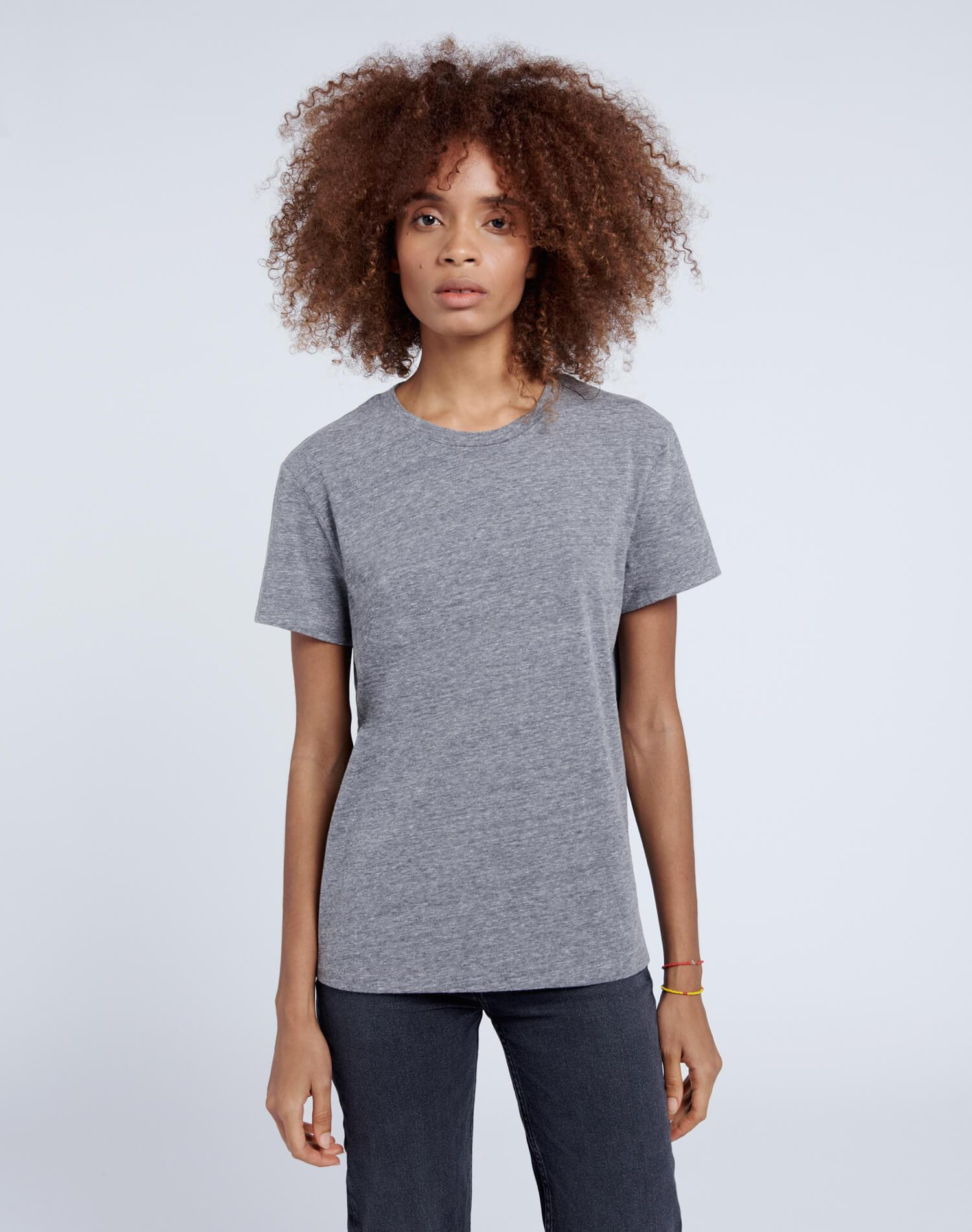 70s Recycled Loose Tee - Heather Grey