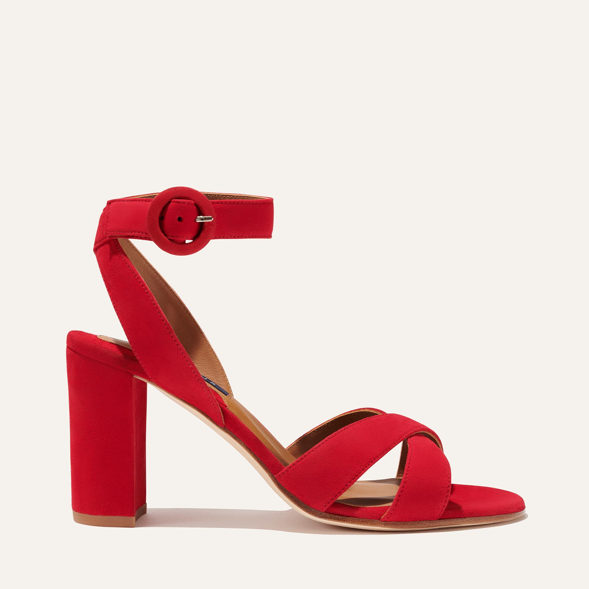 The Uptown Sandal - Poppy Suede