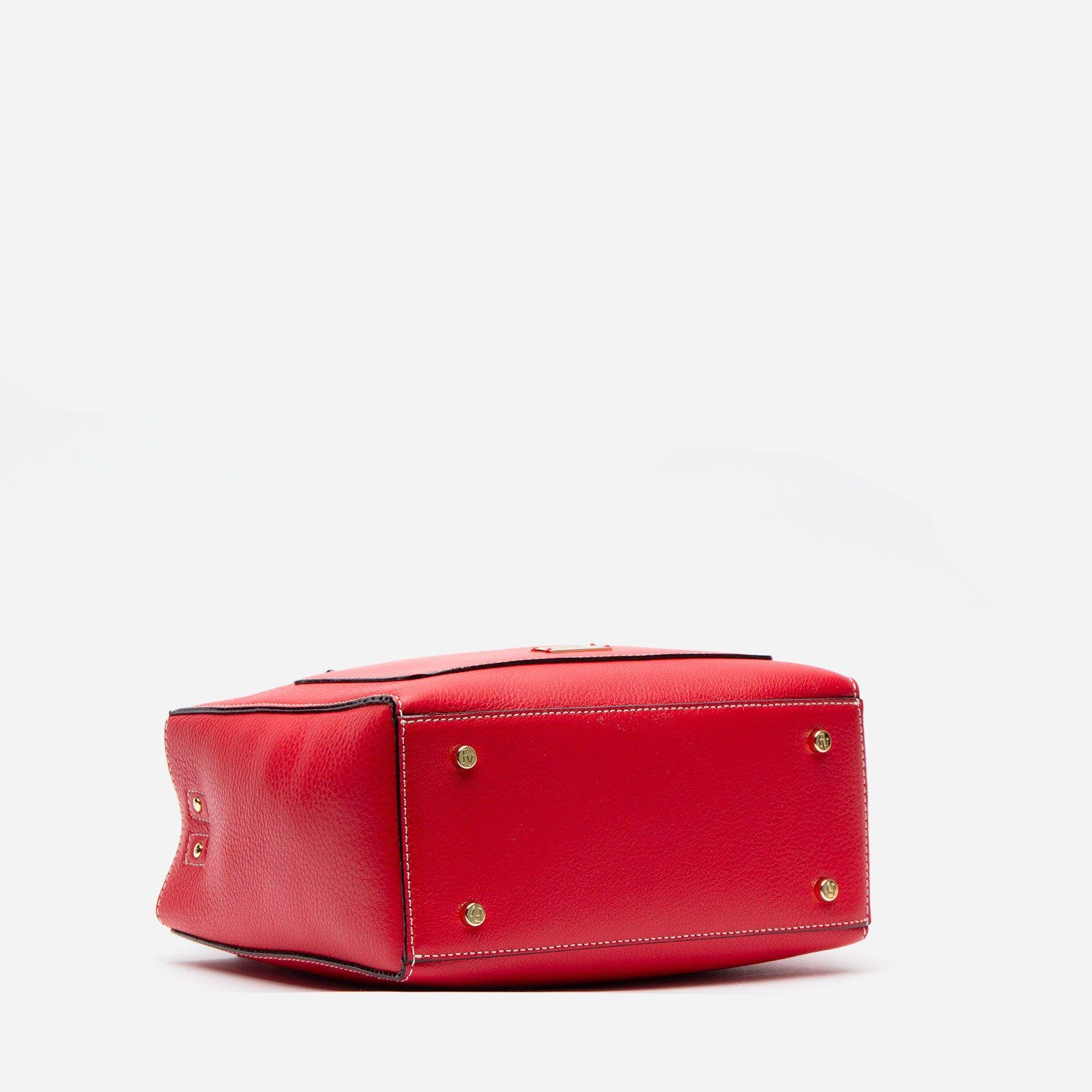 Small Chloe Tumbled Leather Red 4