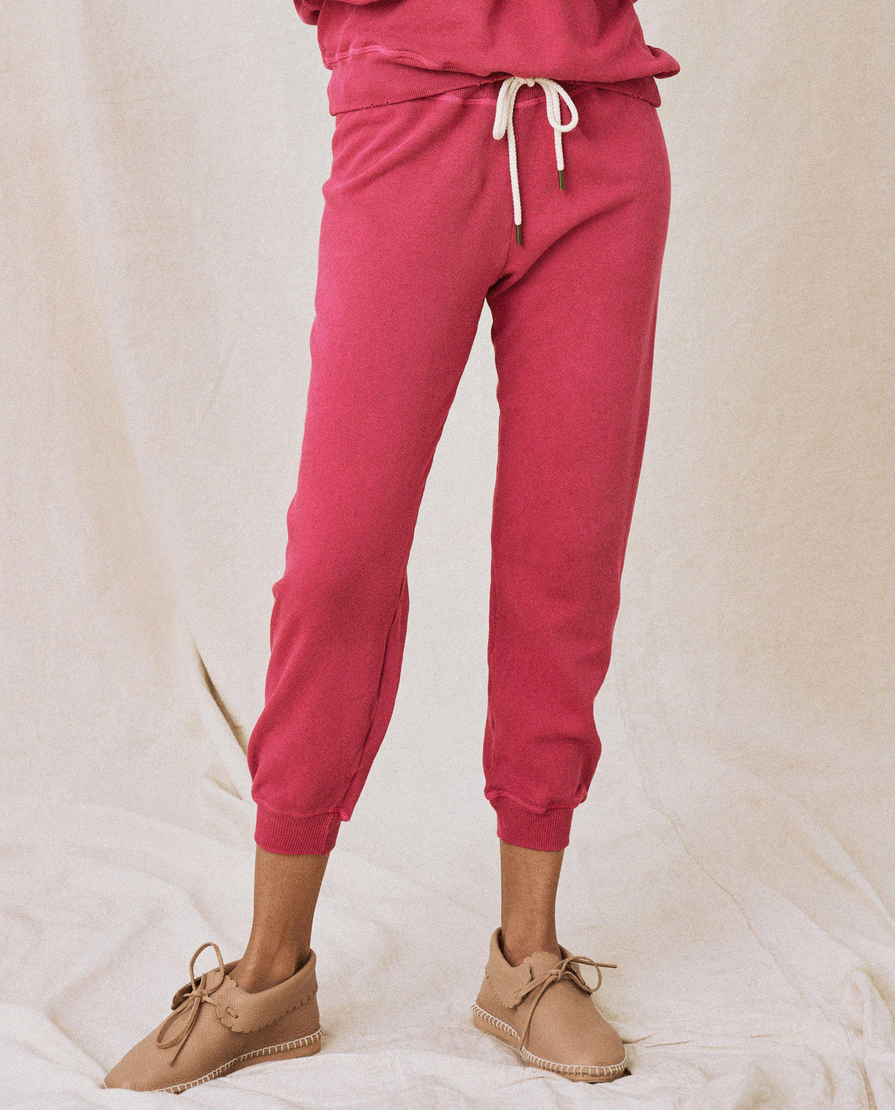 The Cropped Sweatpant. Solid -- Jam