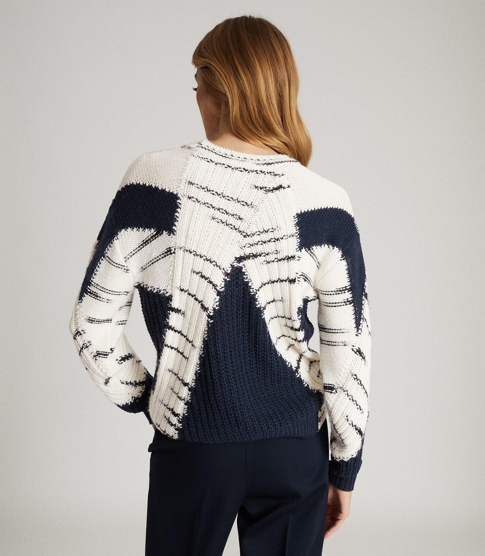 TIFFANY - COLOUR BLOCK KNITTED JUMPER 2