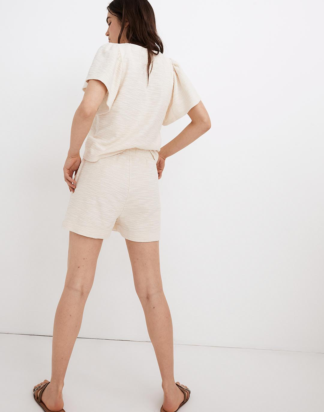 Knit High-Rise Pleated Shorts 2