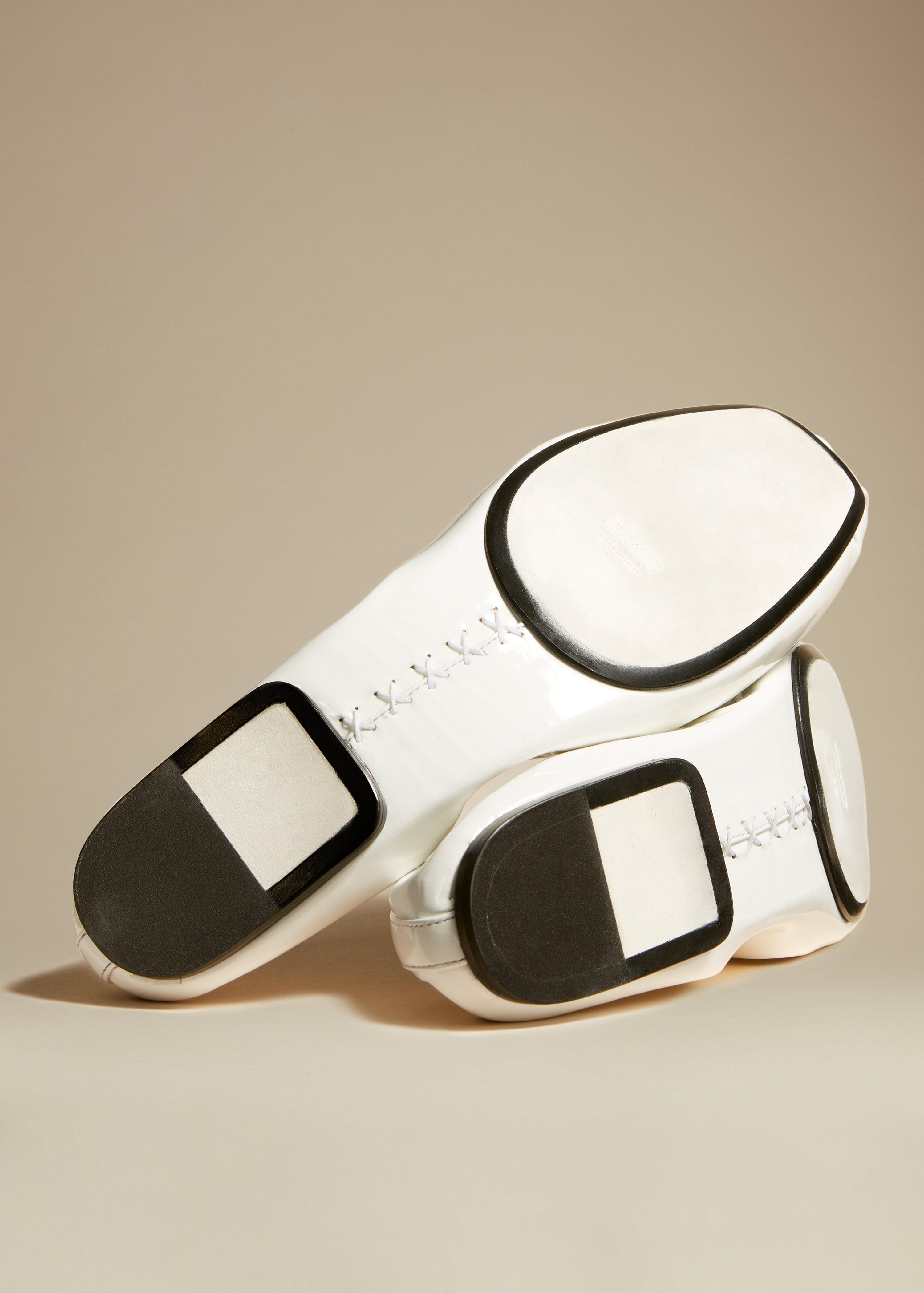 The Ashland Ballet Flat in White Patent Leather 2