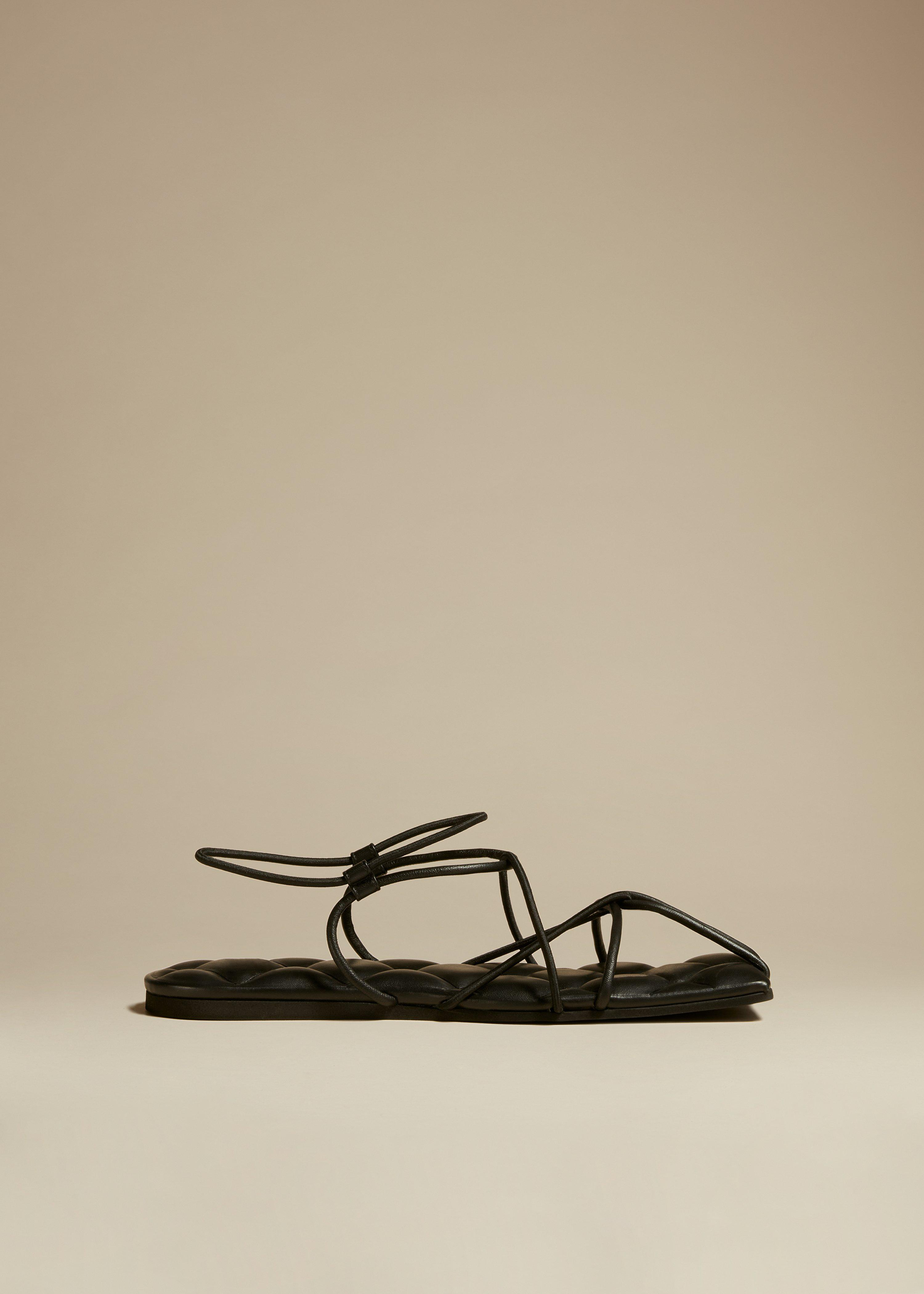 The Patras Sandal in Black Leather