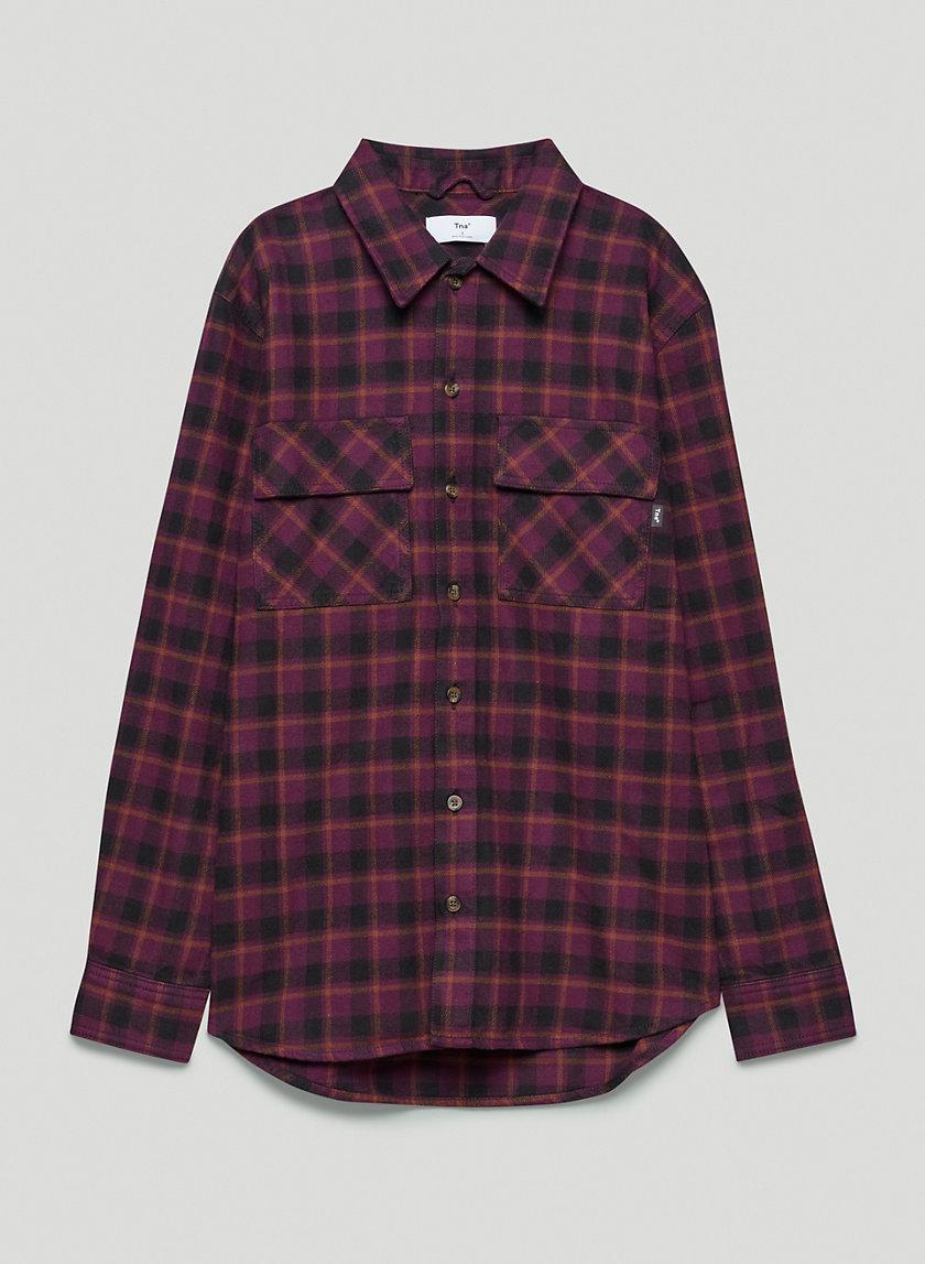 Plaid Oversized Button-Up