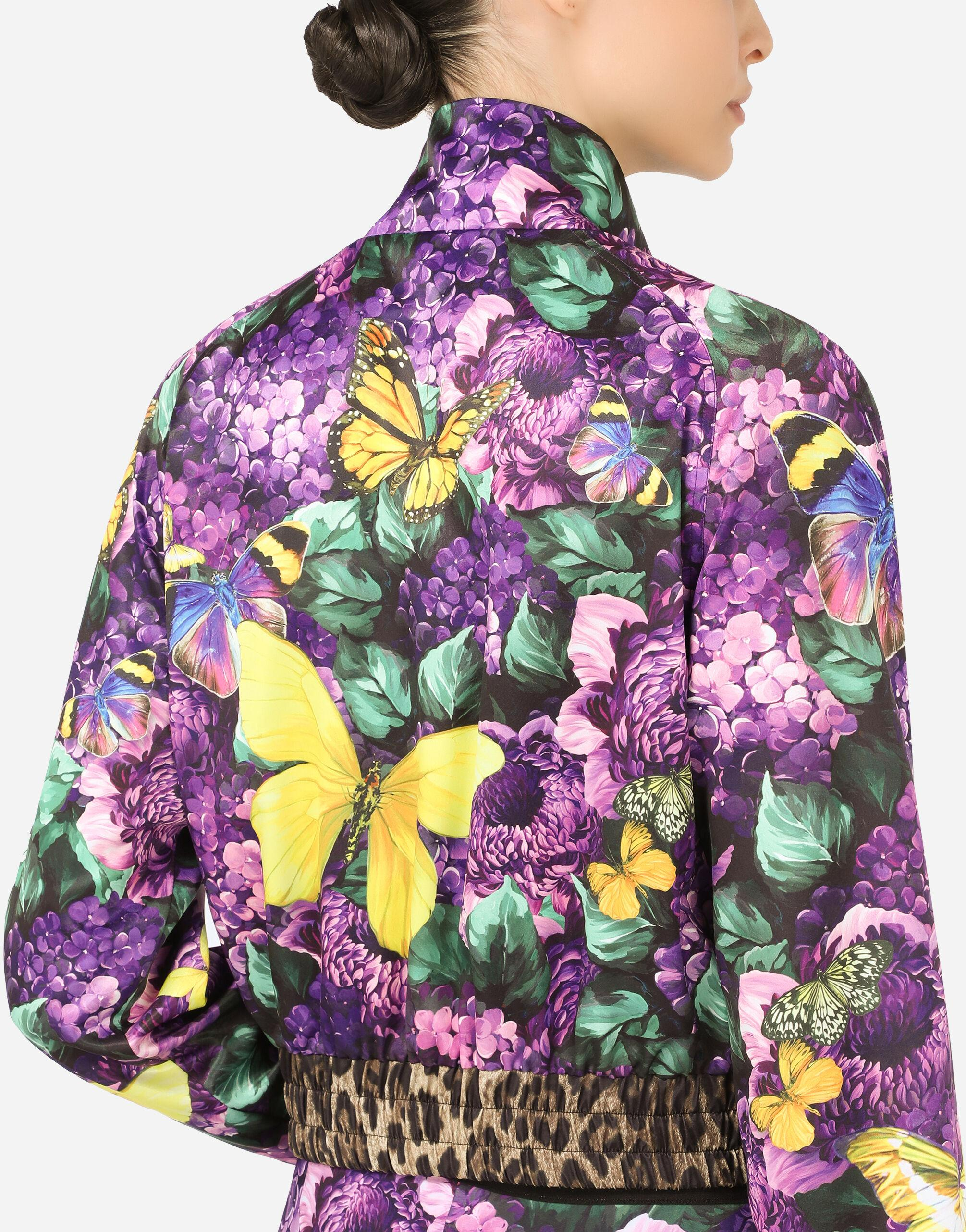 Cropped butterfly-print bomber jacket 10