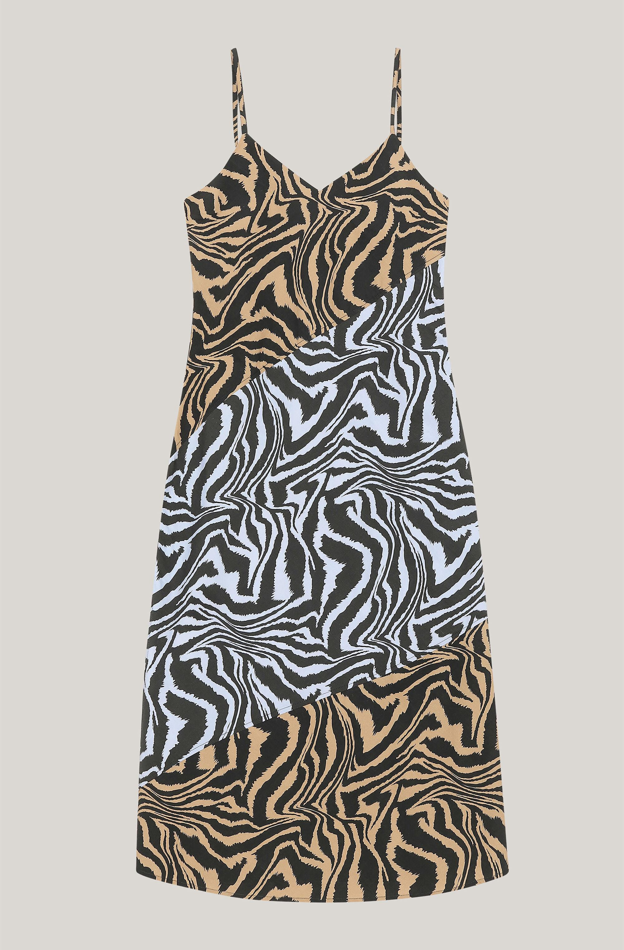 Printed Cotton Slip Dress With Cutlines 2