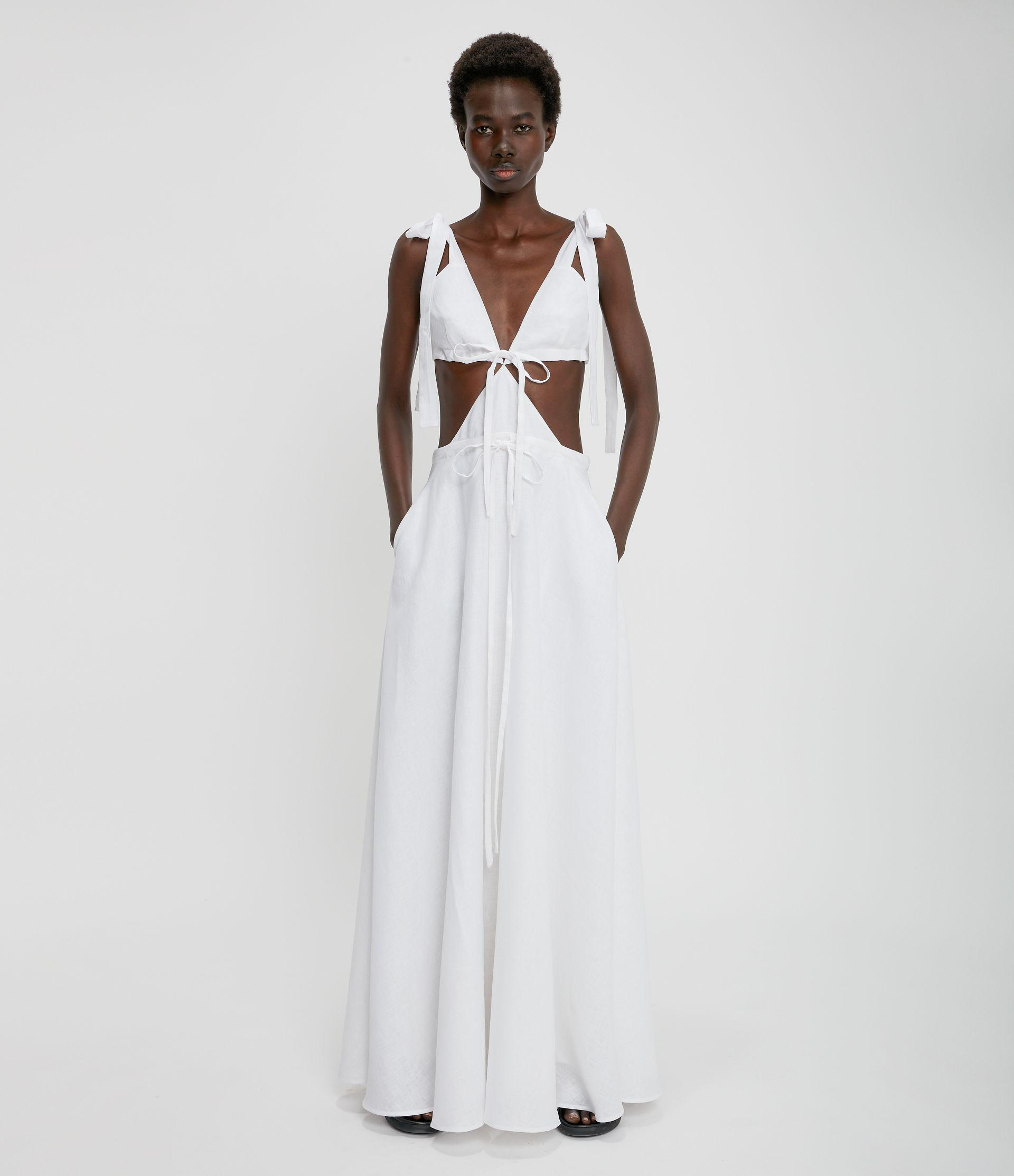 Christopher Kane Bridal: Cut-Out Linen Gown
