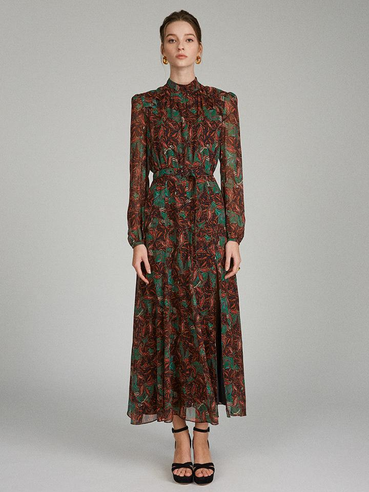 Jacqui B Dress in Forest Acanthus print