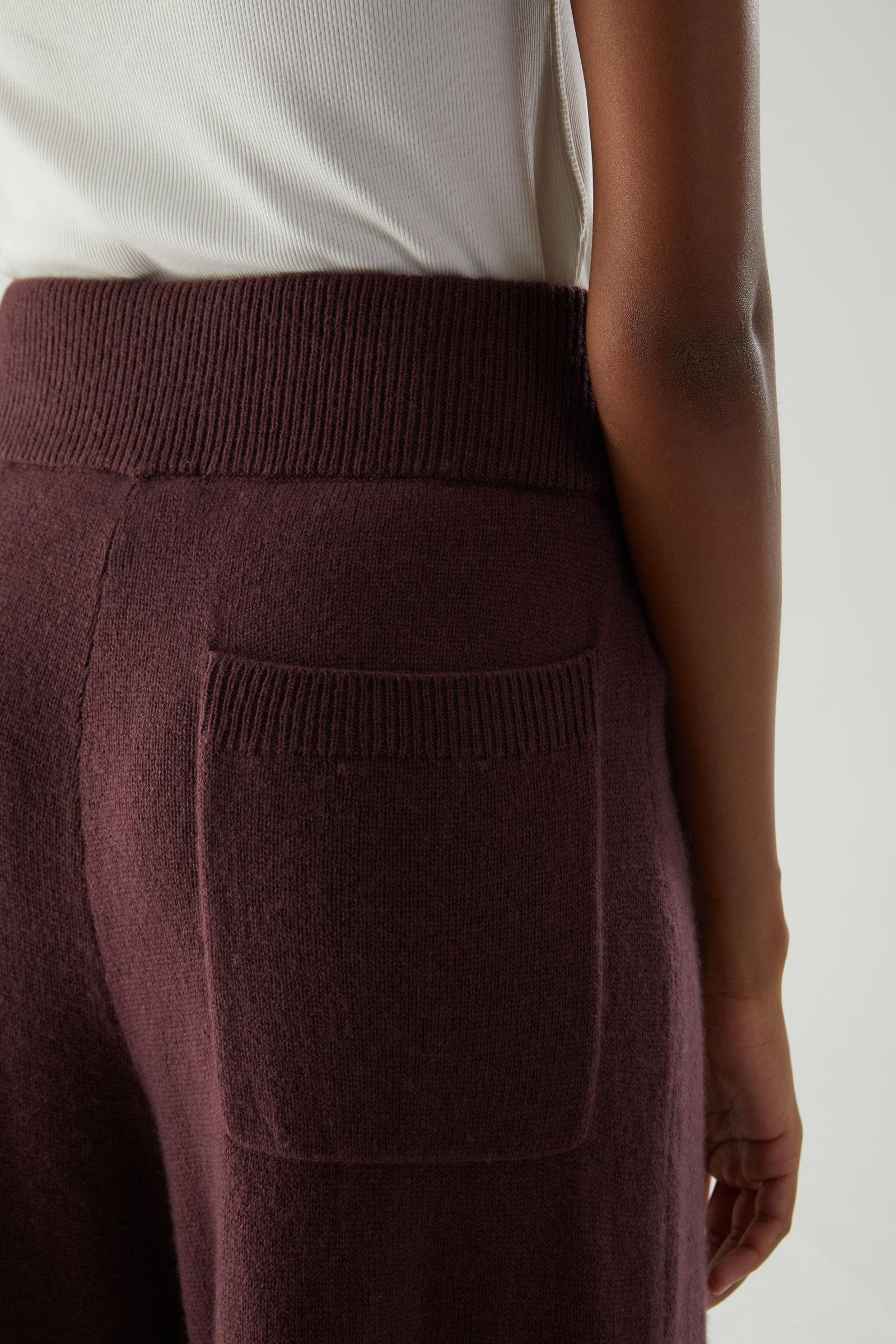 RECYCLED CASHMERE WIDE-LEG PANTS 4