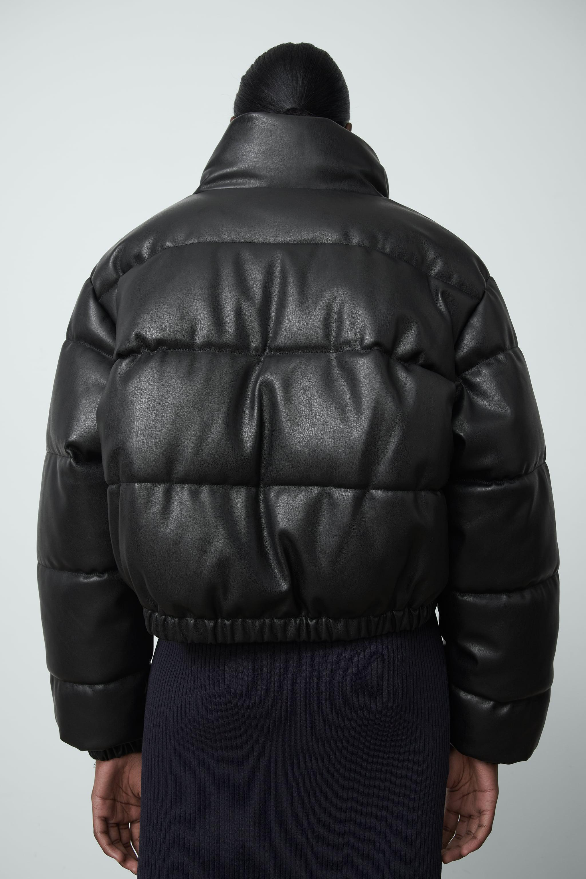 FAUX LEATHER PUFFER JACKET 2