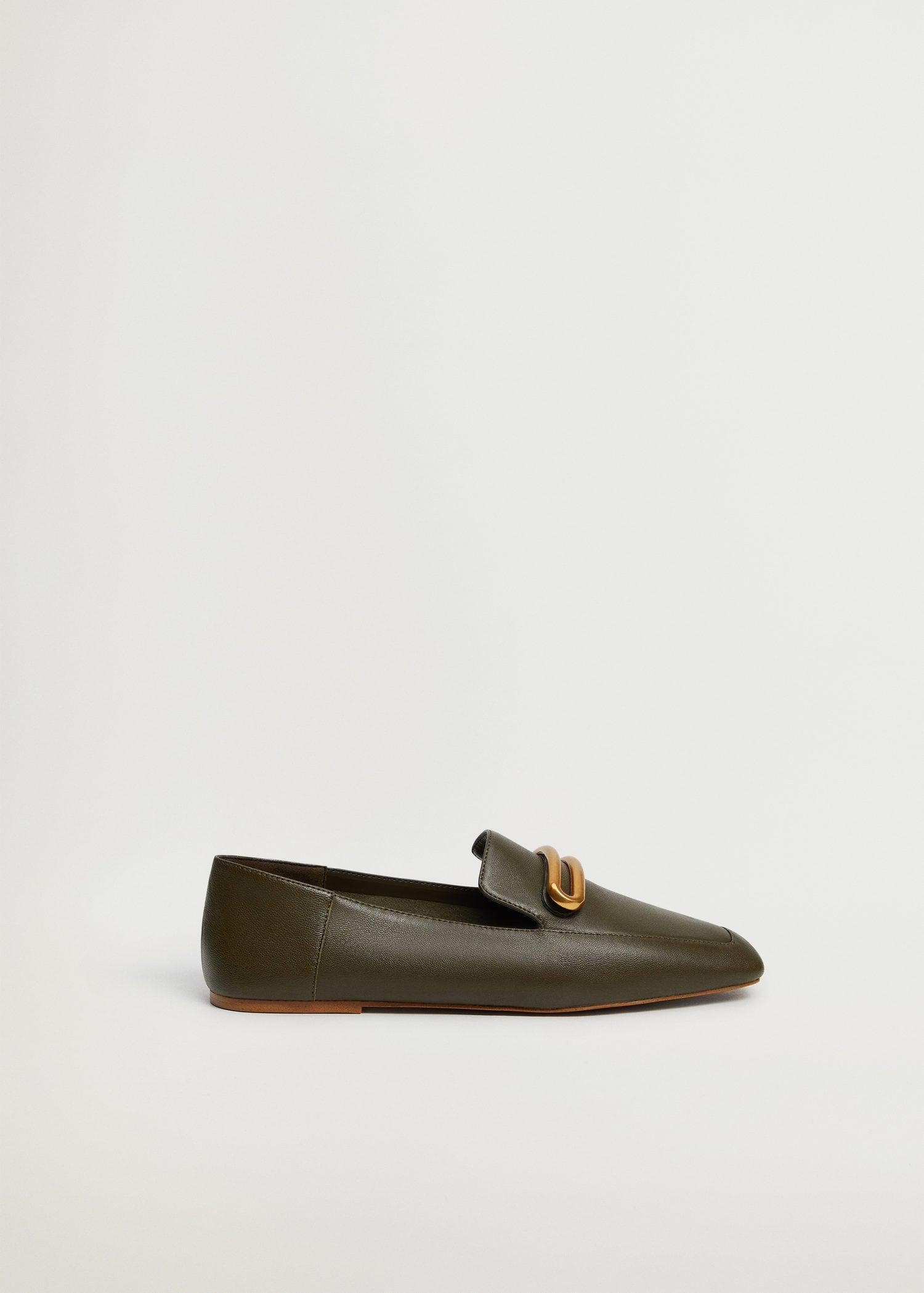 Buckle leather moccasins 0