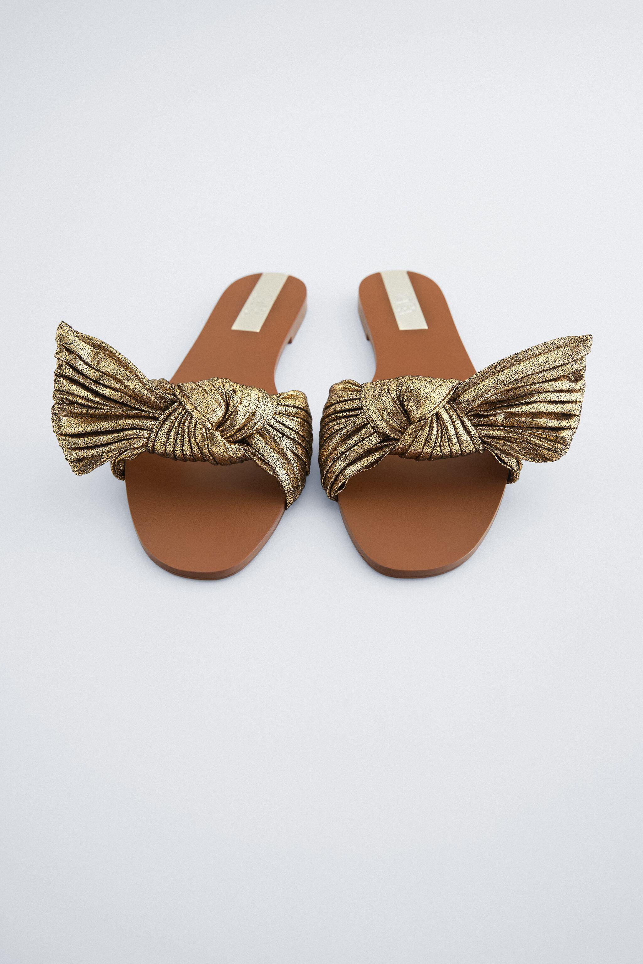 FLAT SANDALS WITH BOW 2