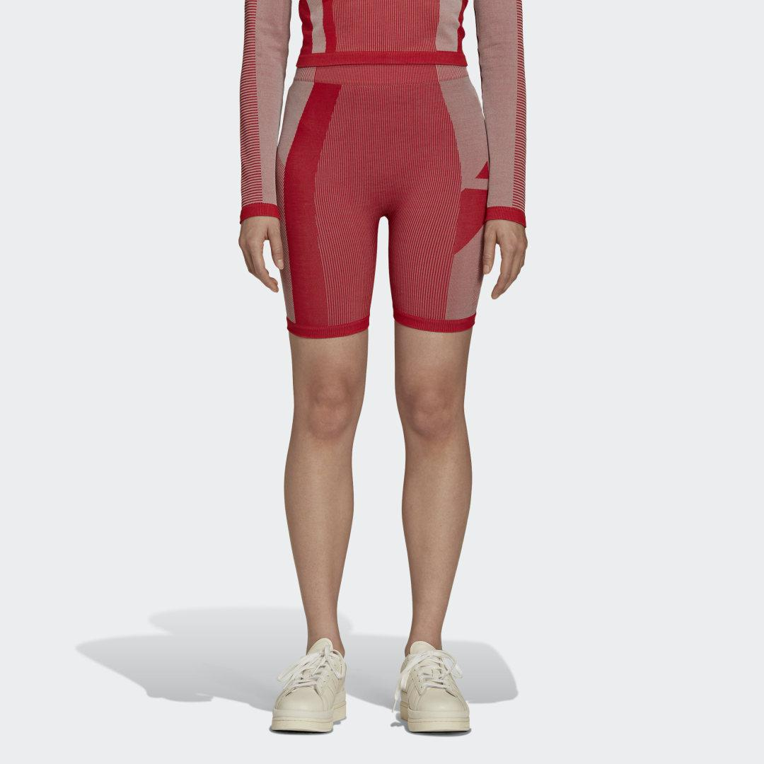 Y-3 Classic Seamless Knit Short Tights Collegiate Red
