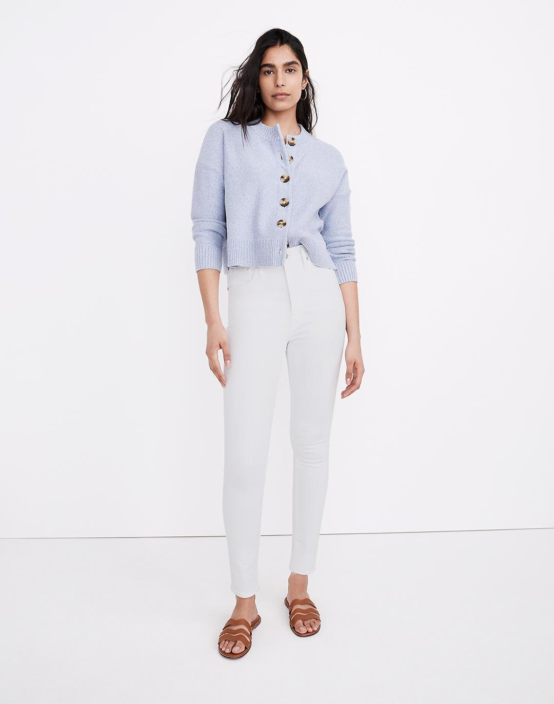 """11"""" High-Rise Skinny Jeans in Pure White"""