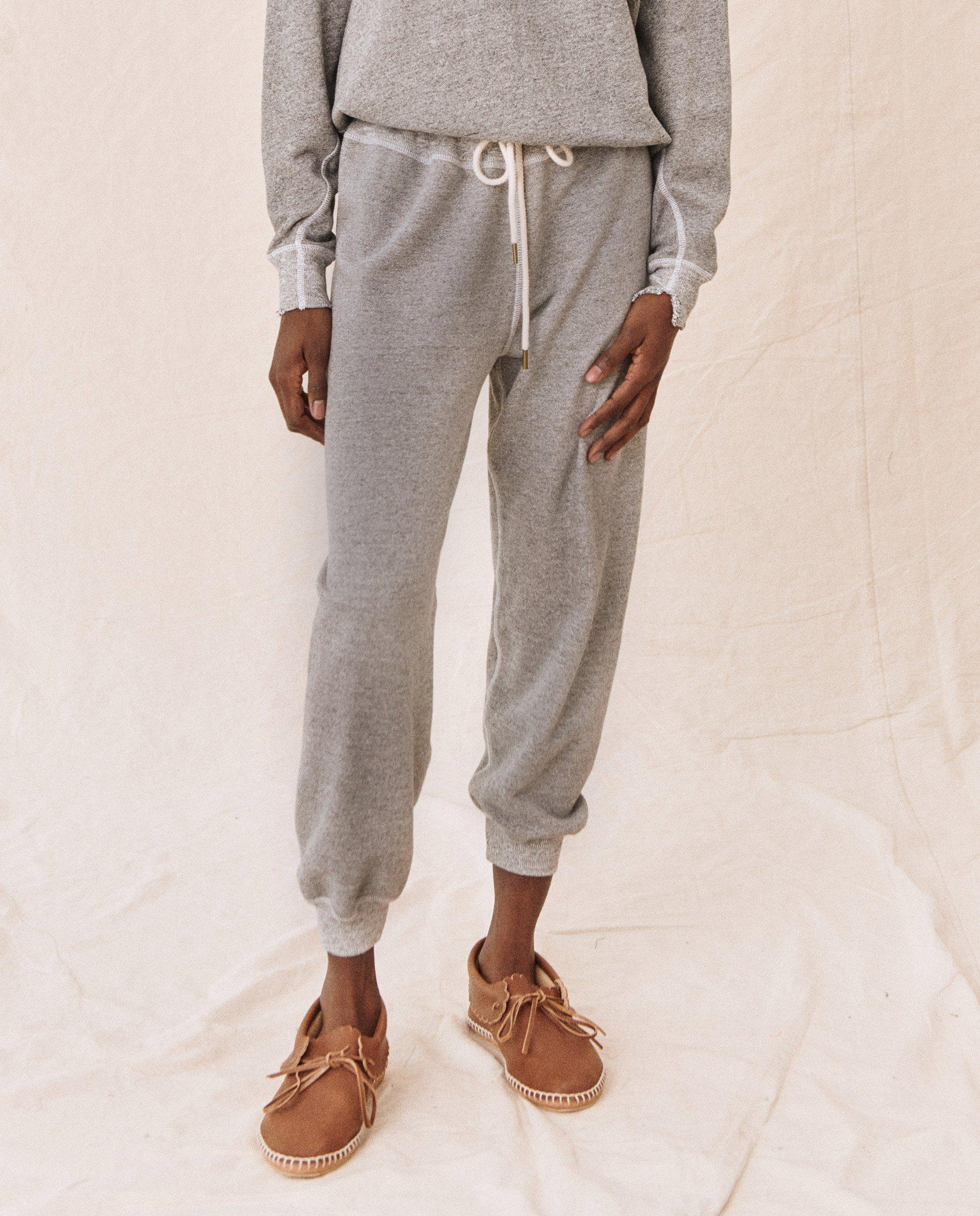 The Cropped Sweatpant. Solid -- Varsity Grey 4