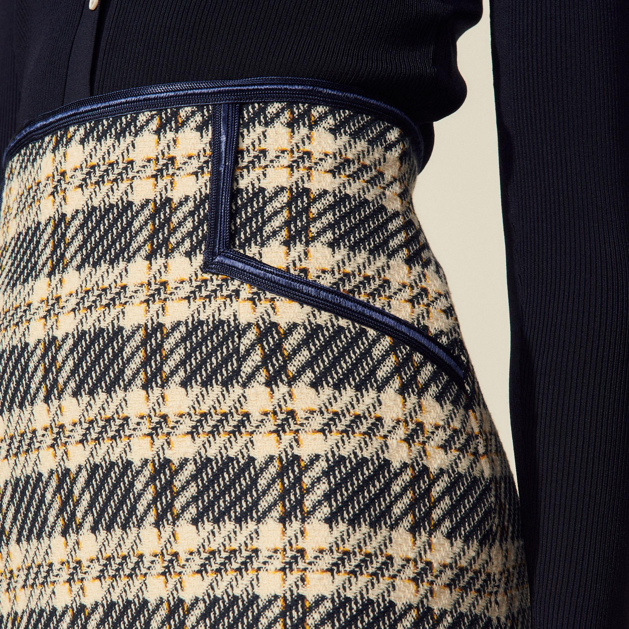 Checked tweed skirt 4