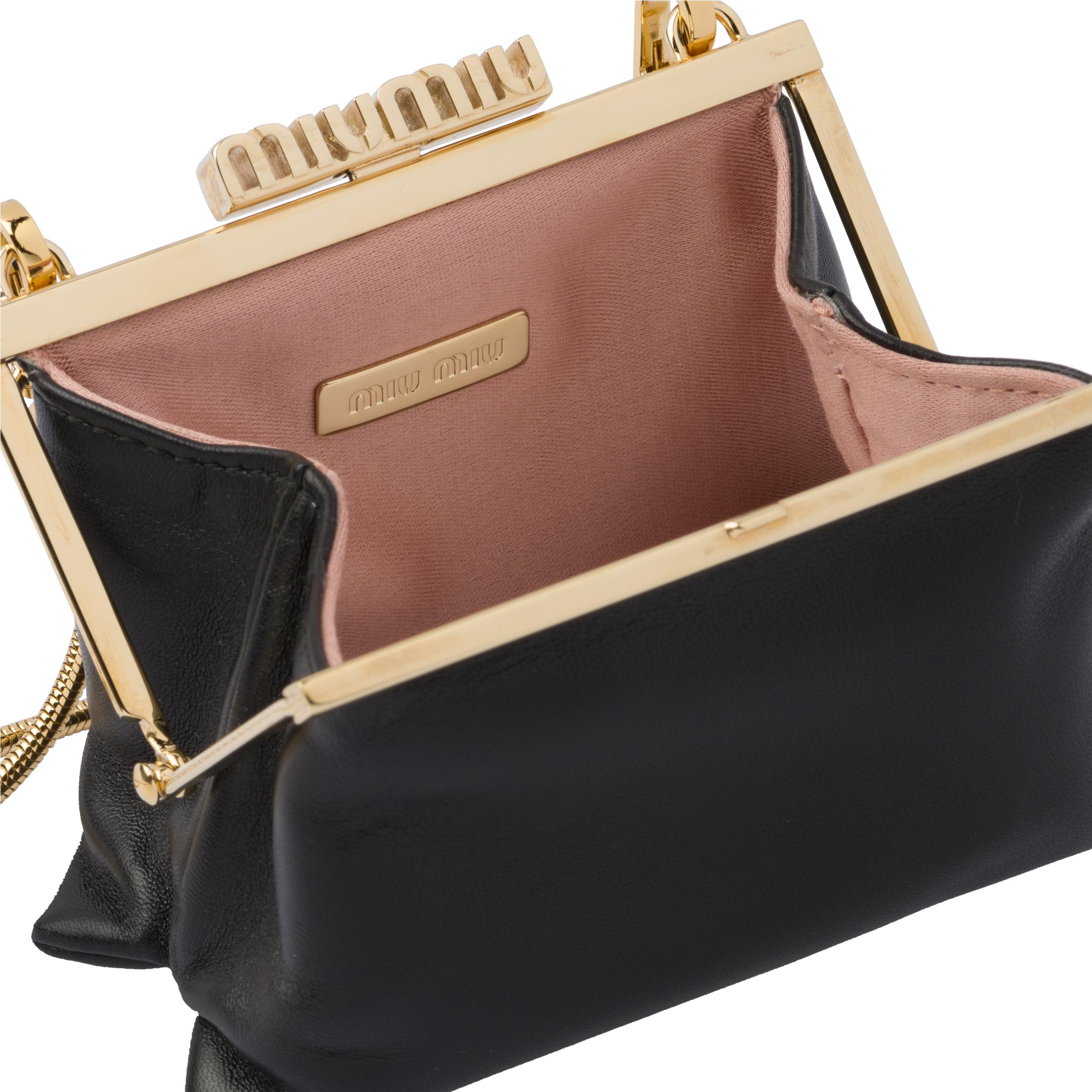 Nappa Leather Wallet With Shoulder Strap Women Black 5