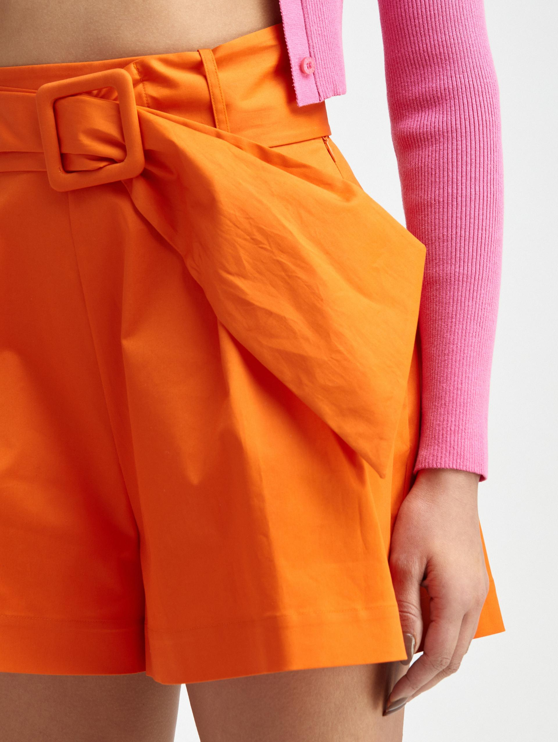 PLEATED COTTON SHORTS 4