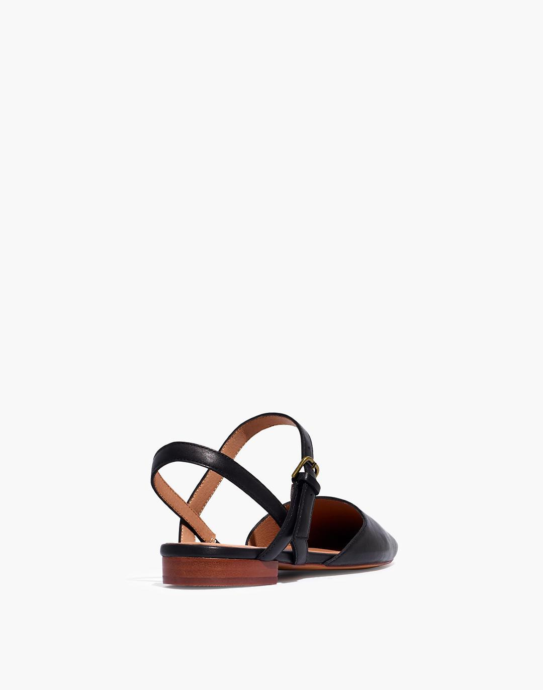 The Jeanne Slingback Flat in Leather 2