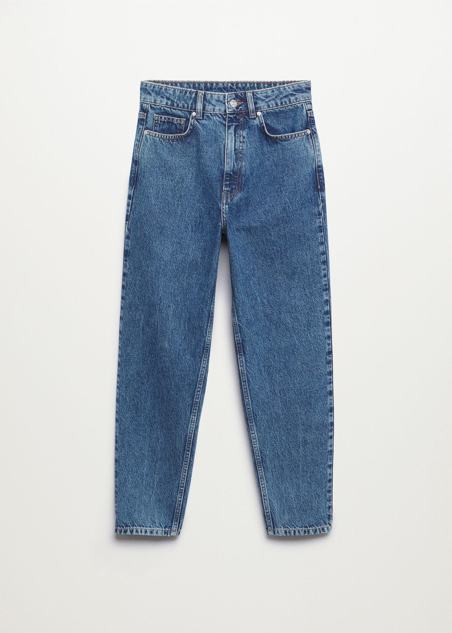 100% cotton mom-fit jeans 8