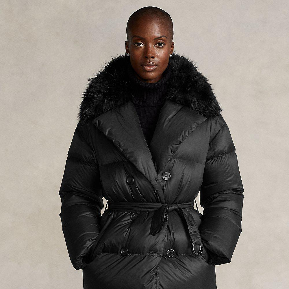 Down-Filled Double-Breasted Coat