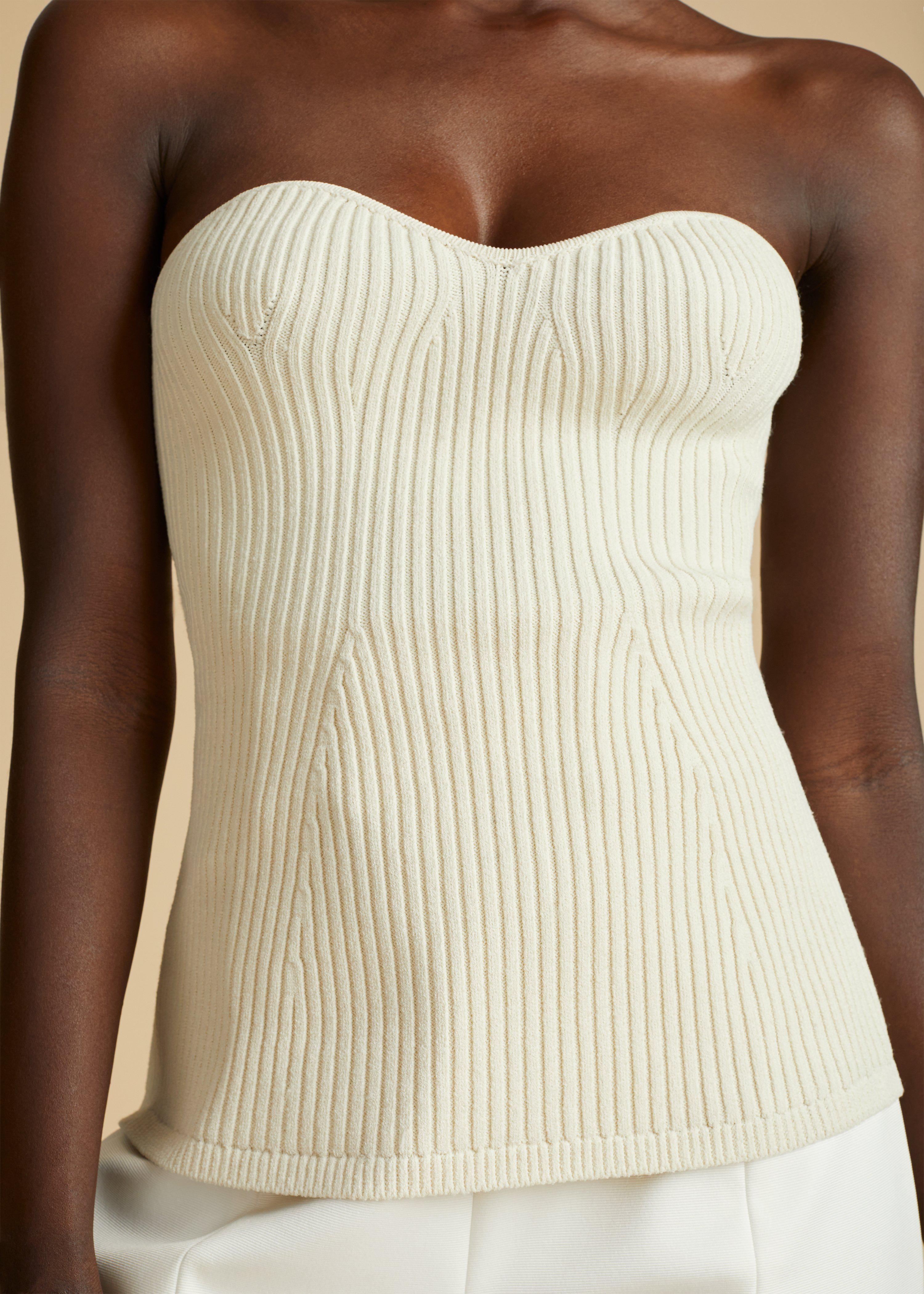 The Lucie Top in Cream 3