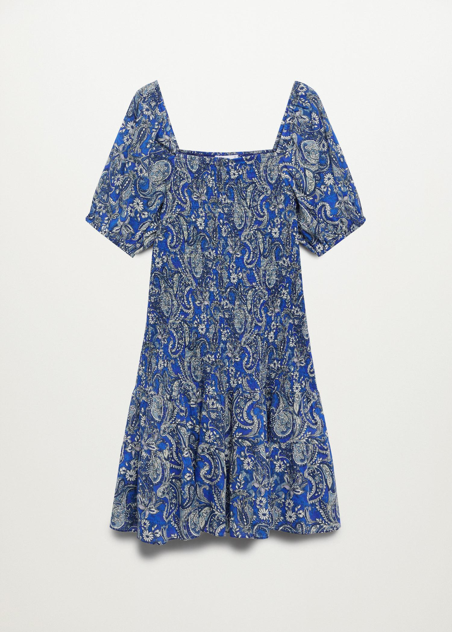 Printed ruched dress 8