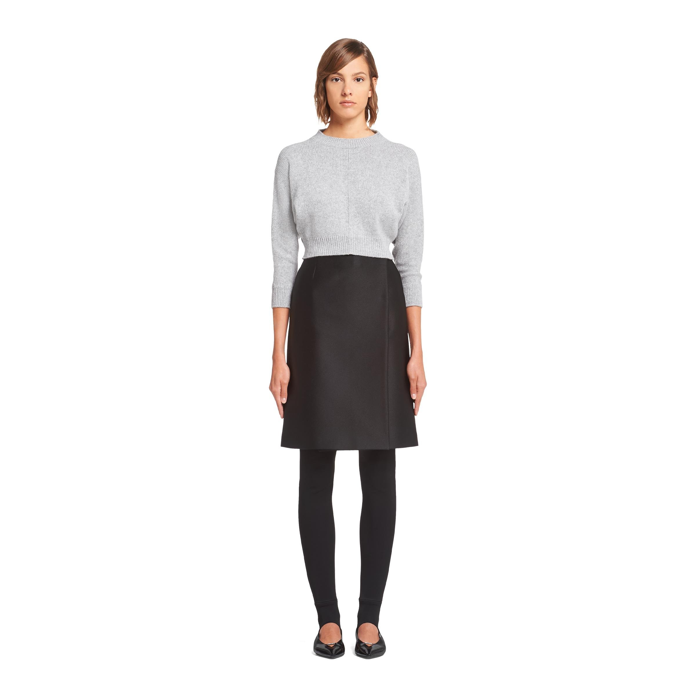 Cashmere Wool Crew-neck Sweater Women Marble Gray 1