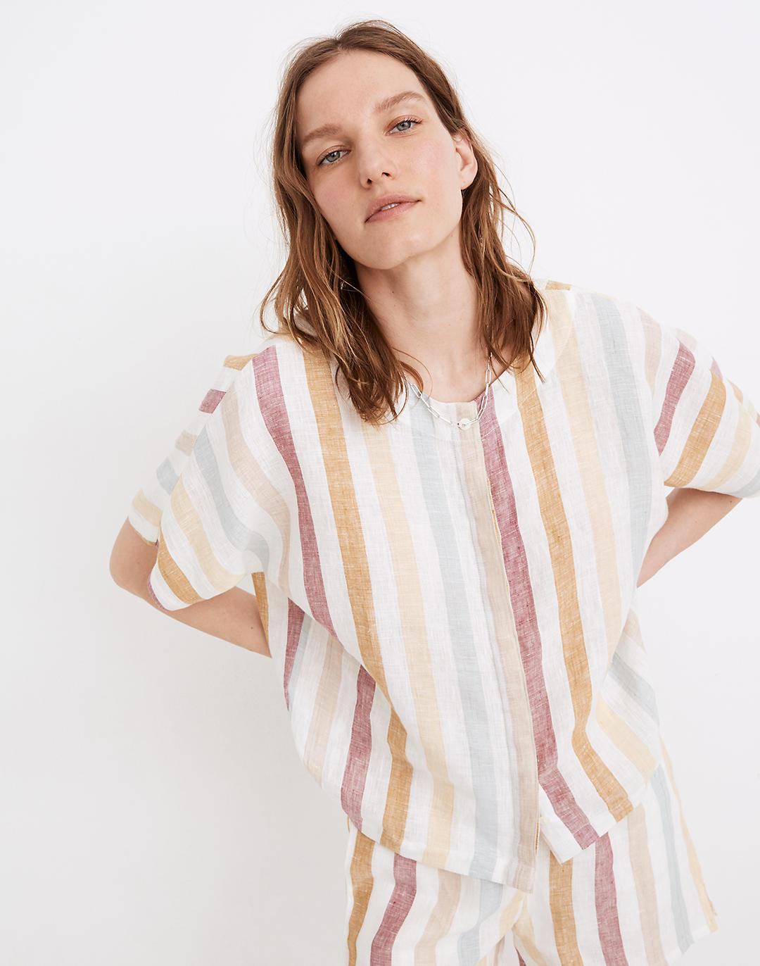 Madewell x LAUDE the Label Bo Button-Down Shirt in Painter Stripe
