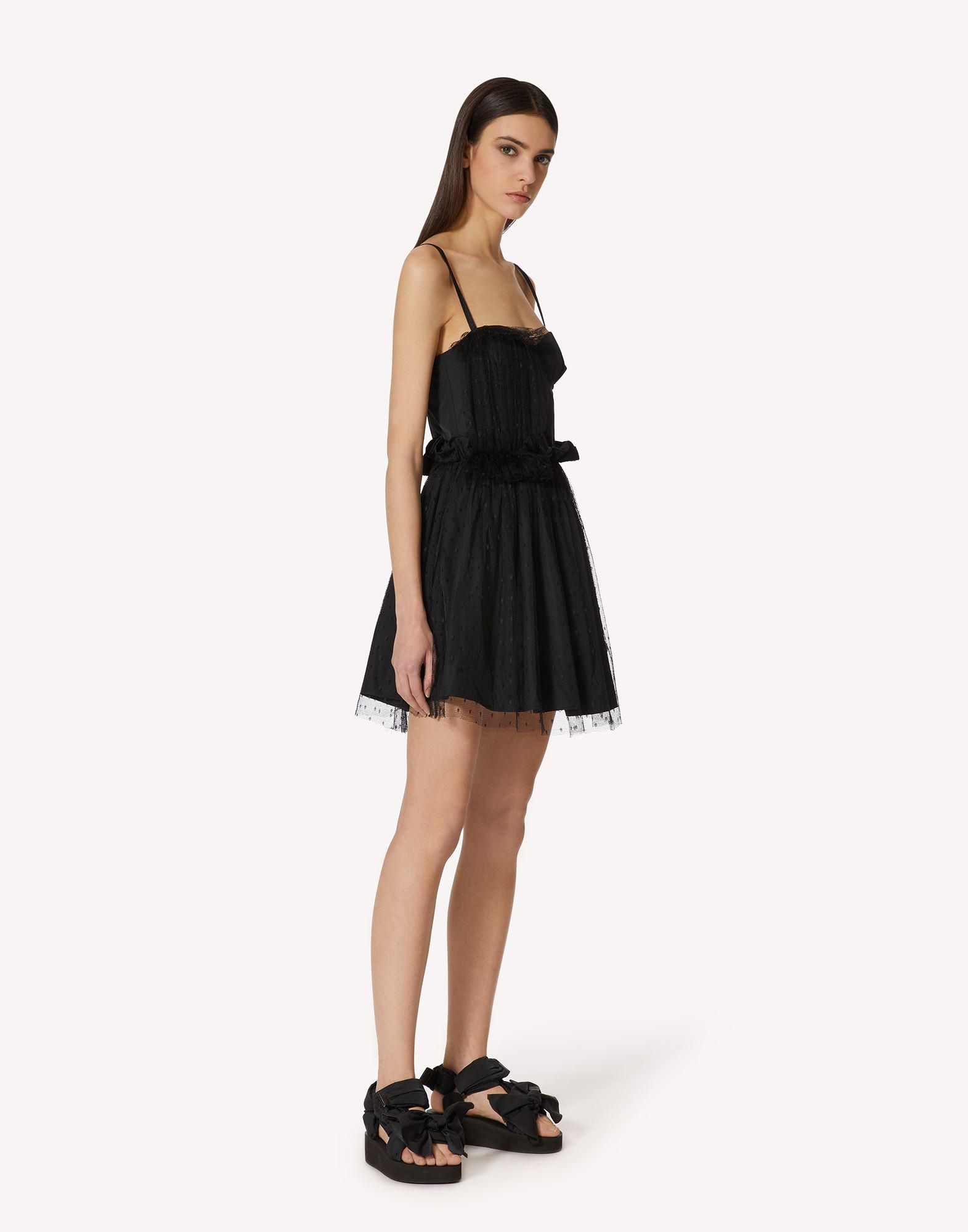 """""""THE BLACK TAG"""". - TAFFETA AND POINT D'ESPRIT TULLE DRESS 2"""