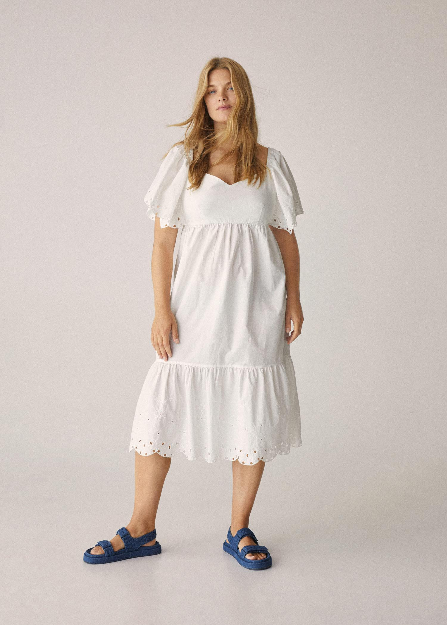 Embroidered cotton dress 5