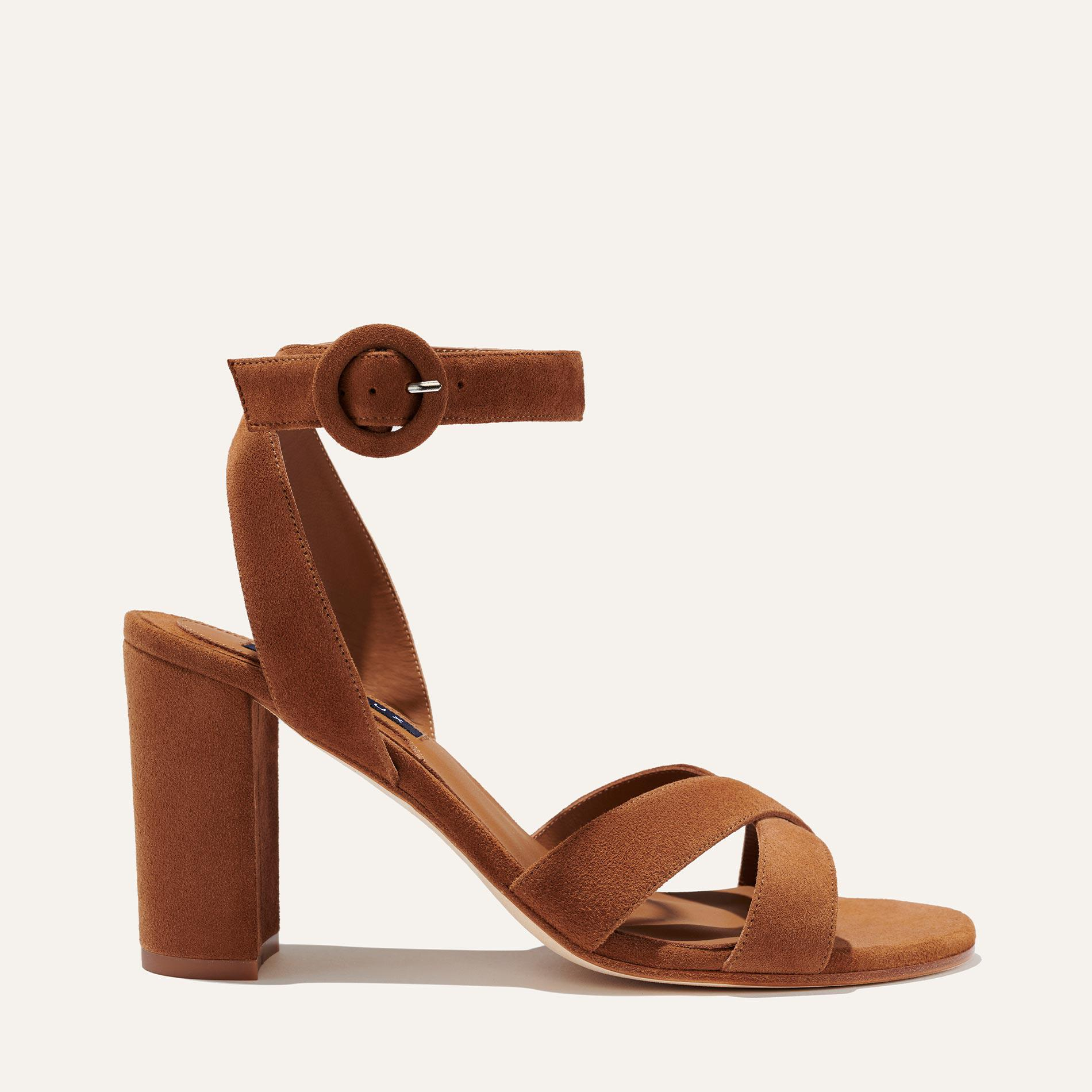 The Uptown Sandal - Chestnut Suede