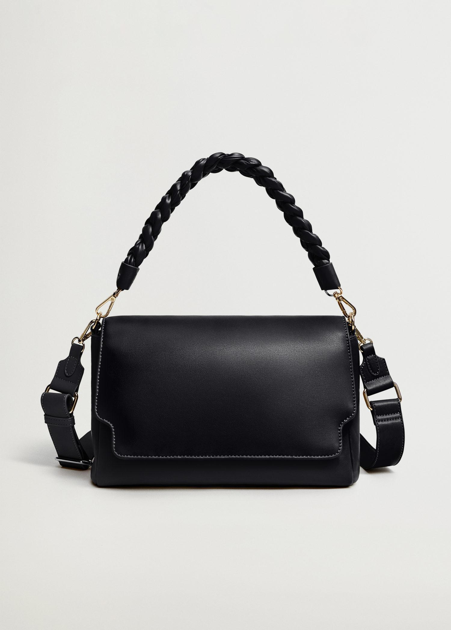 Crossbody bag with twisted strap