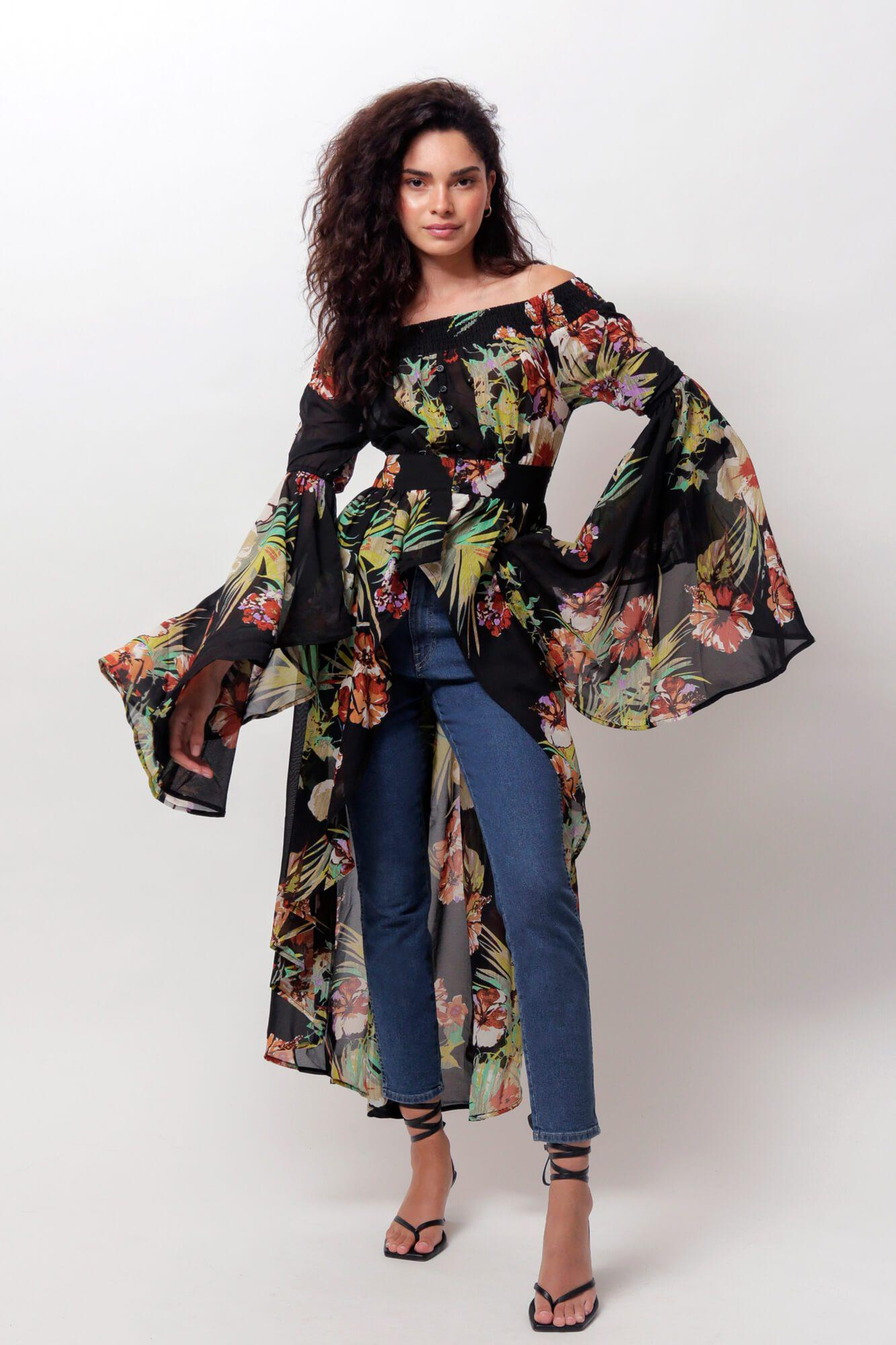 Laelia Off The Shoulder Duster